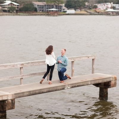 Fairhope Pier Proposal Photographer | Missy + Eric