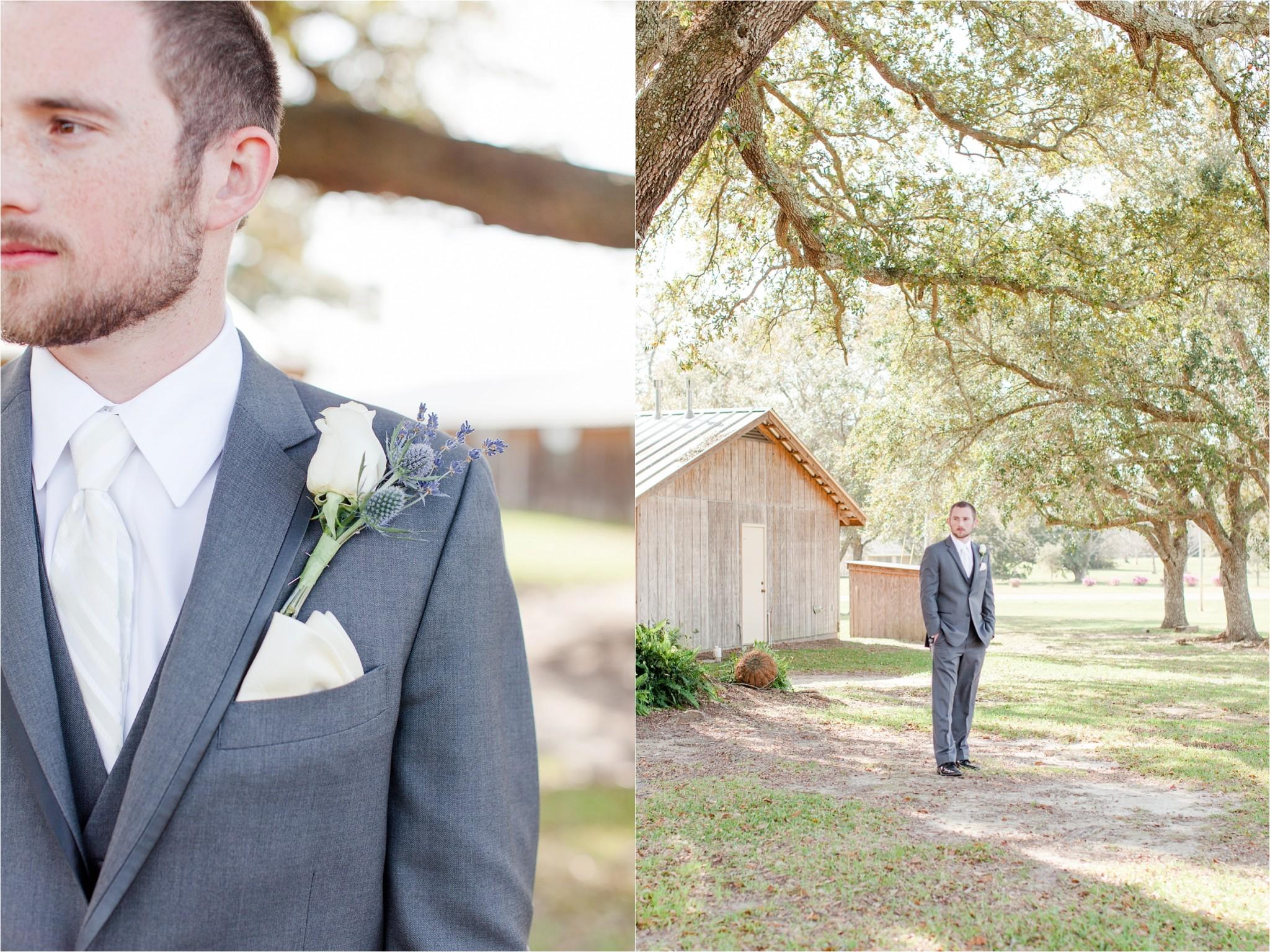 the groom at his Oak Hollow Farm Wedding