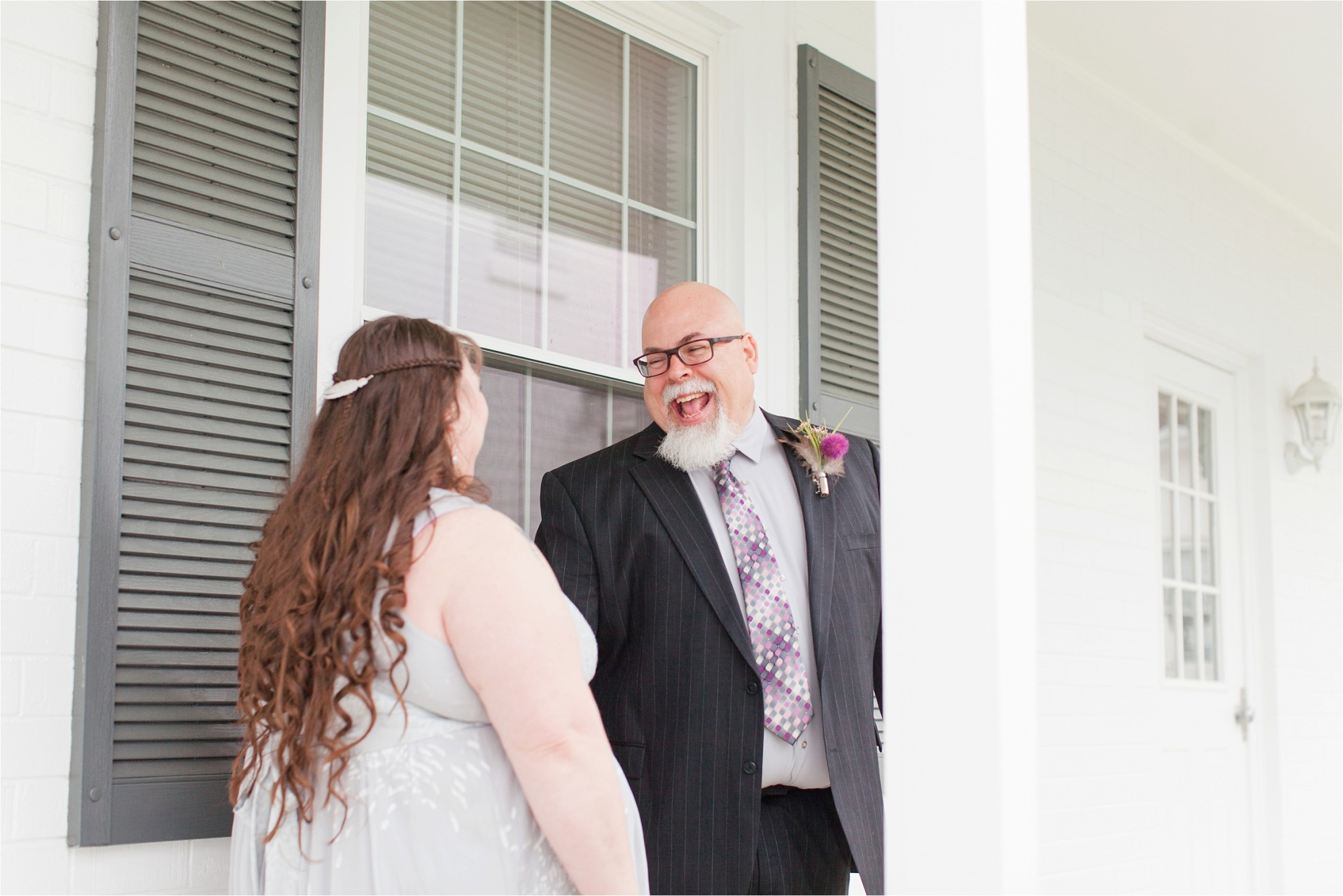 purple and silver wedding pictures