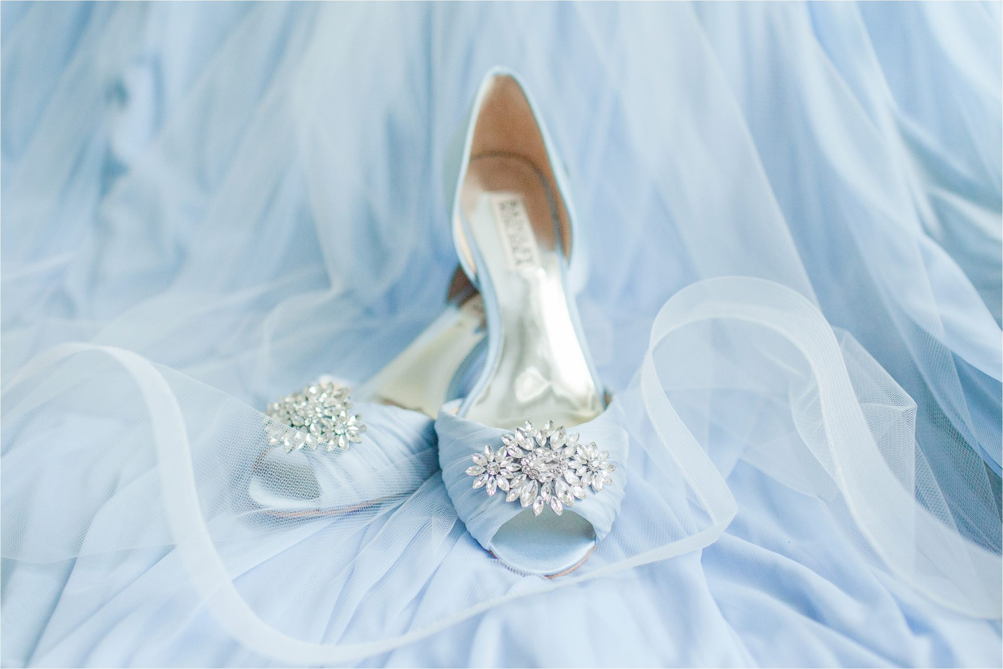 classy light blue wedding shoes