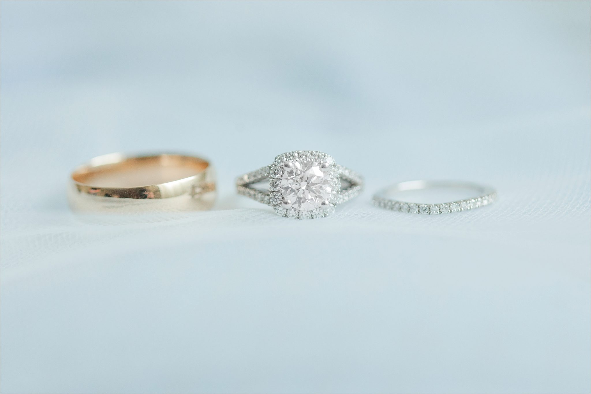 classy light blue wedding details