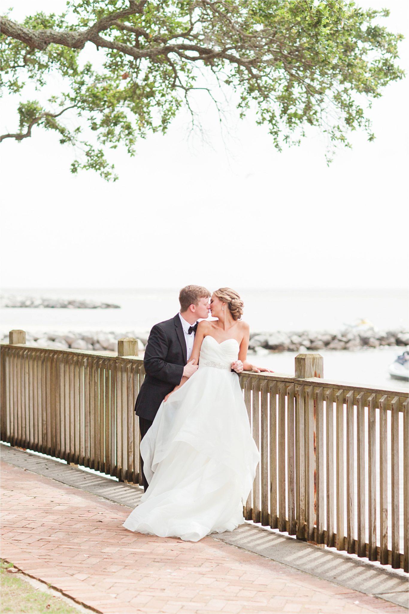Classy Light Blue Wedding-Point Clear, Alabama Wedding Photographer-Wedding dress-Wedding gown-Bride and groom