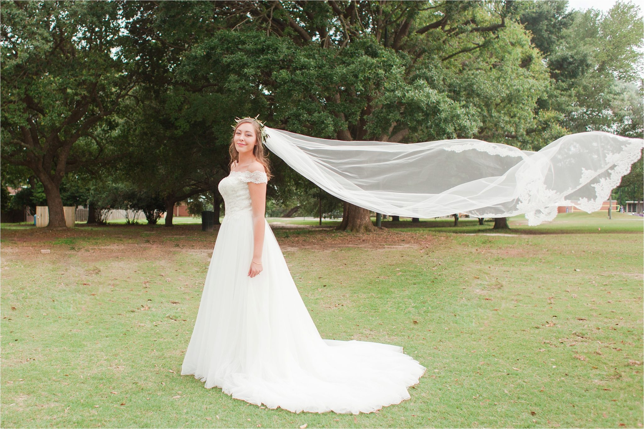 Bridal Portrait Session at Spring Hill College