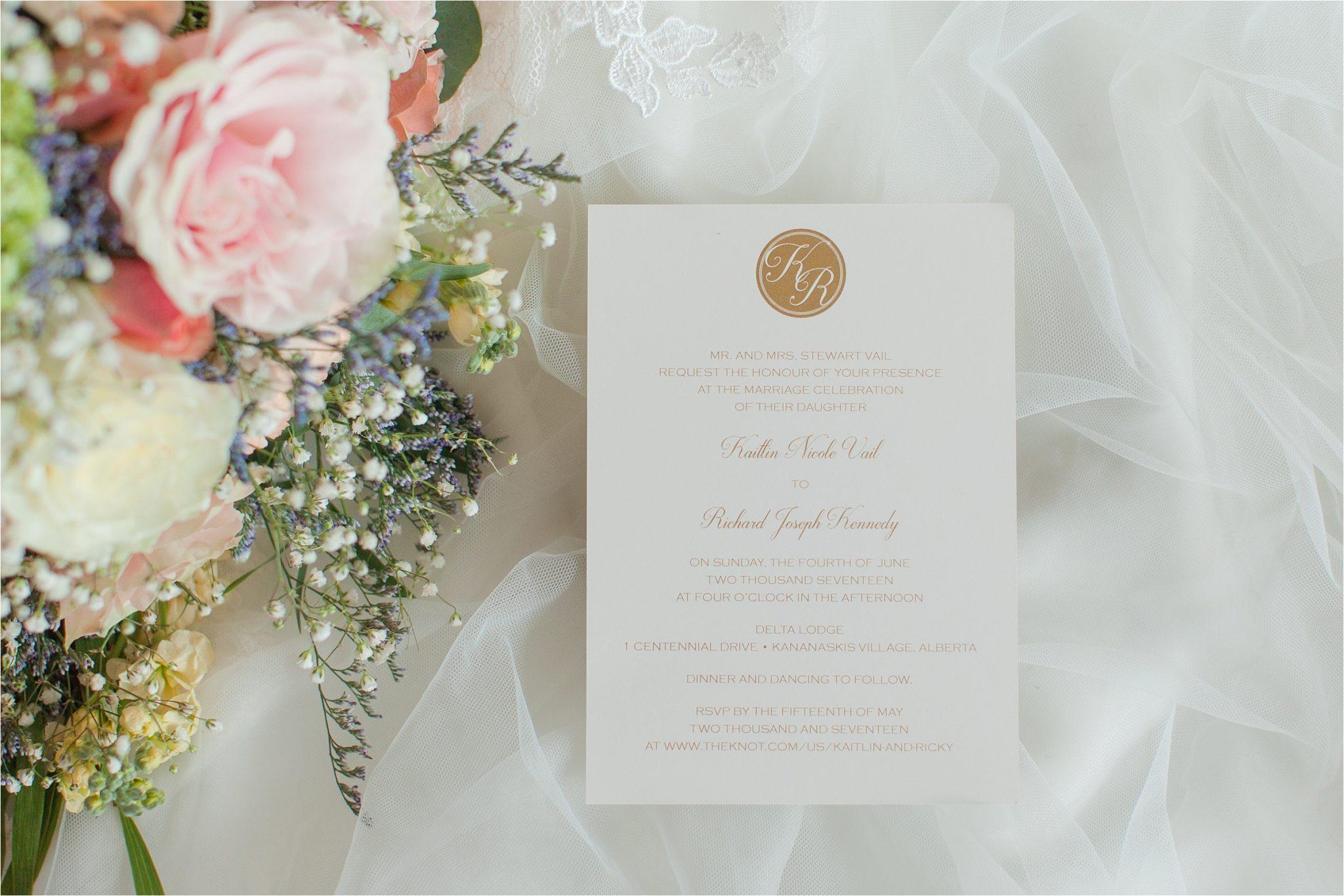 Kananaskis Canada Wedding at the Delta Lodge-Kaitlin & Ricky-Alabama wedding photographer-Lodge wedding-Wedding invitation-Wedding paper