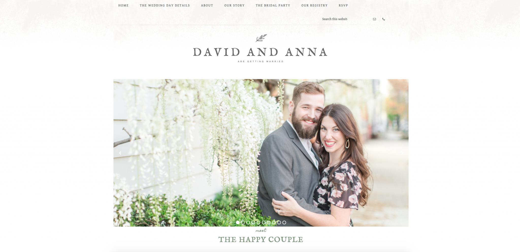 building a wedding website