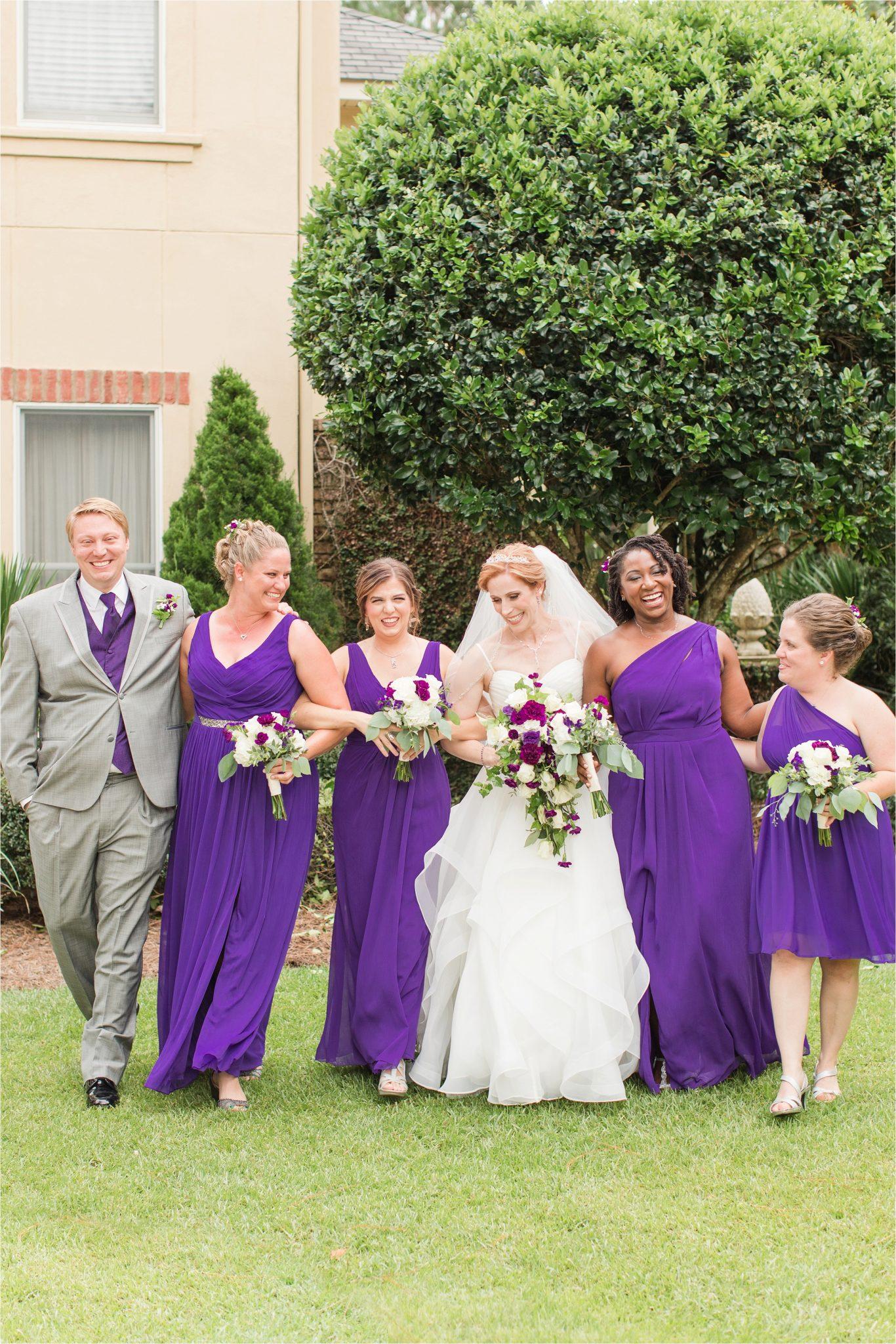 Romantic Destination Wedding Photographer-Bella Sera Gardens-Sarra + Matt-Bridal photography-Wedding party-Purple themed wedding