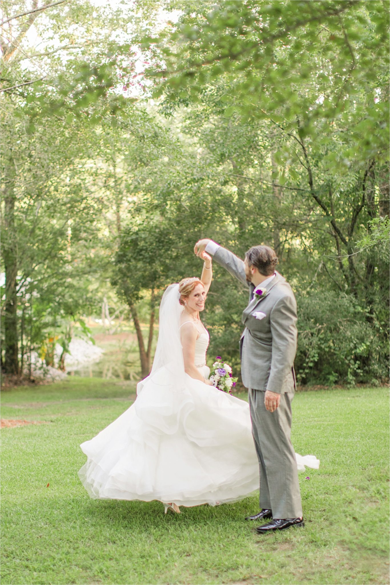 Romantic Destination Wedding Photographer-Bella Sera Gardens-Sarra + Matt-Bridal photography-Bride and groom-Purple themed wedding-Alabama wedding-Alabama photographer