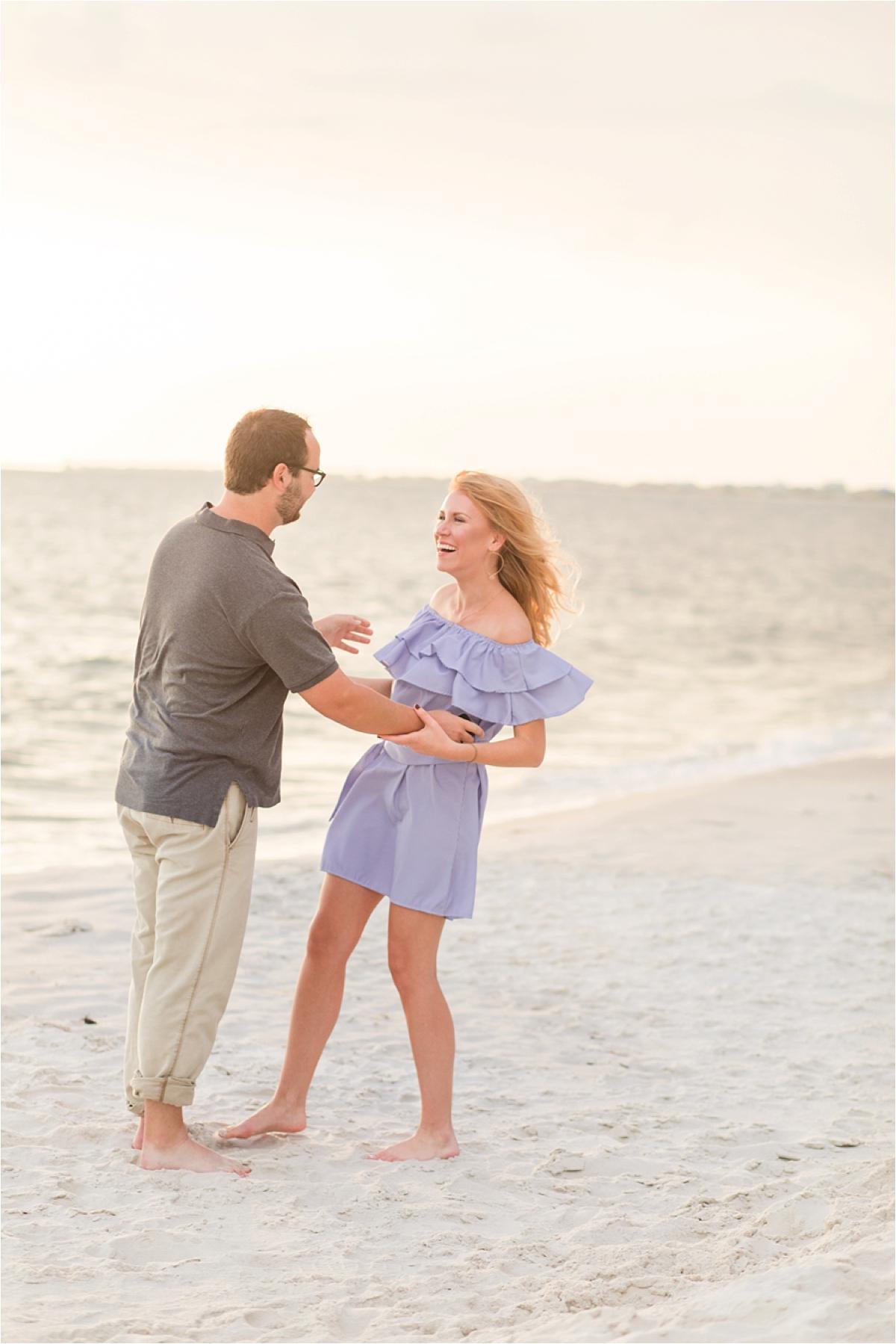 Dauphin Island Proposal at Sunset-Clay + Lauren-Beach proposal-Beach engagement-Alabama photographer