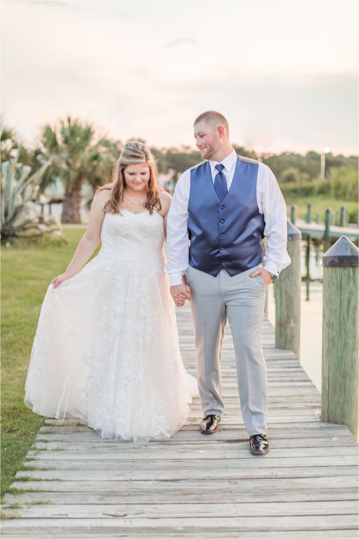 navy-venue-alabama-wedding-photographer-Dauphin Island Estuarium-on the beach-beach-bride-groom-portraits