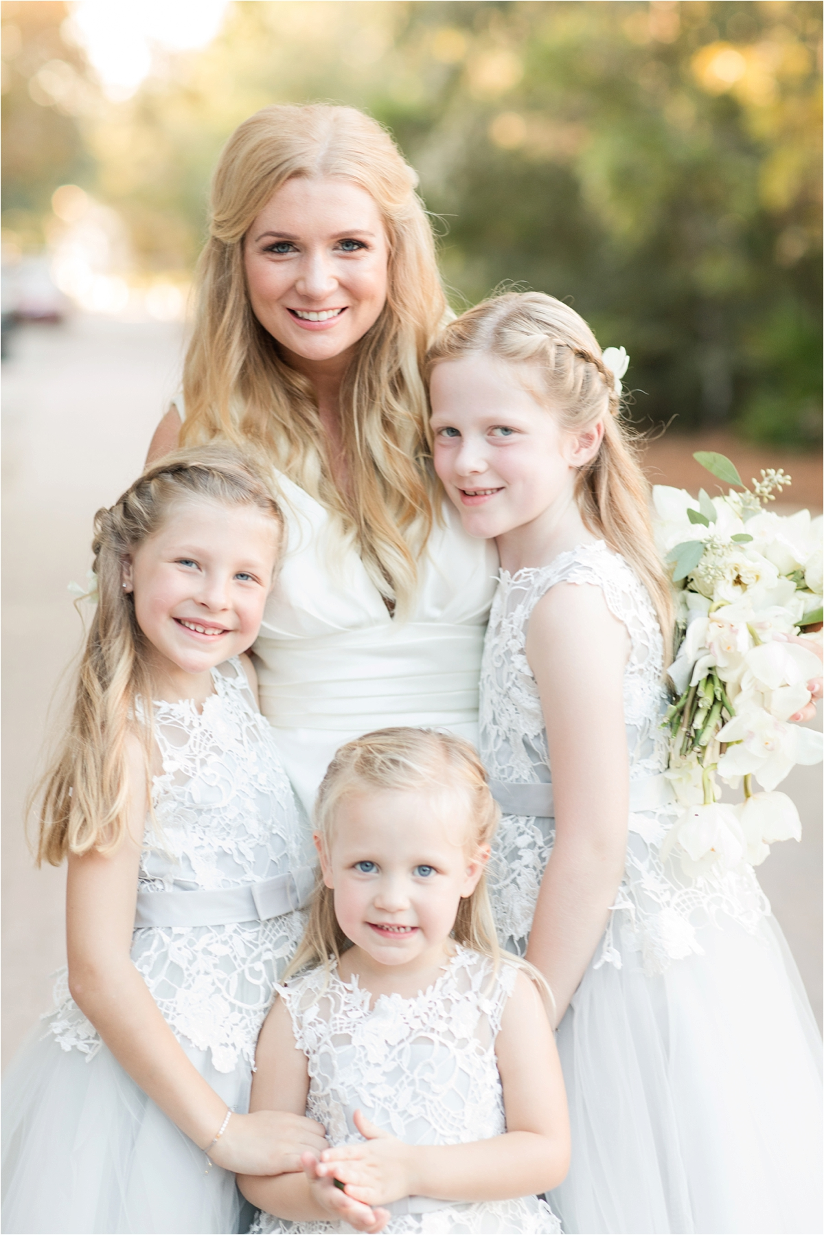 Seaside Florida Wedding Photographer-Catherine Carter + Brian-Alabama photographer-Bride and flower girls