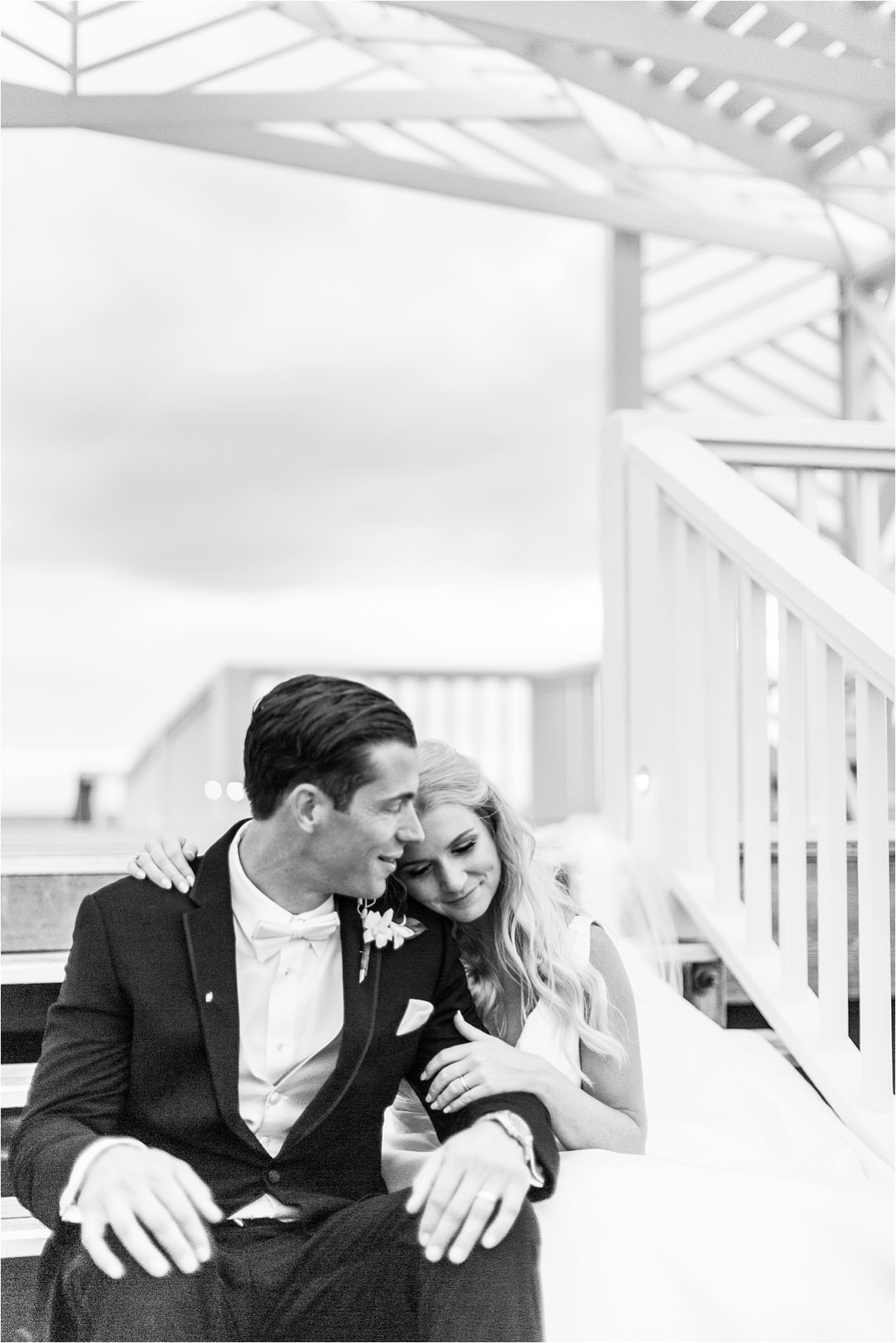 Seaside Florida Wedding Photographer-Catherine Carter + Brian-Alabama photographer-Beach wedding-Bride and Groom-Black and white wedding photographs
