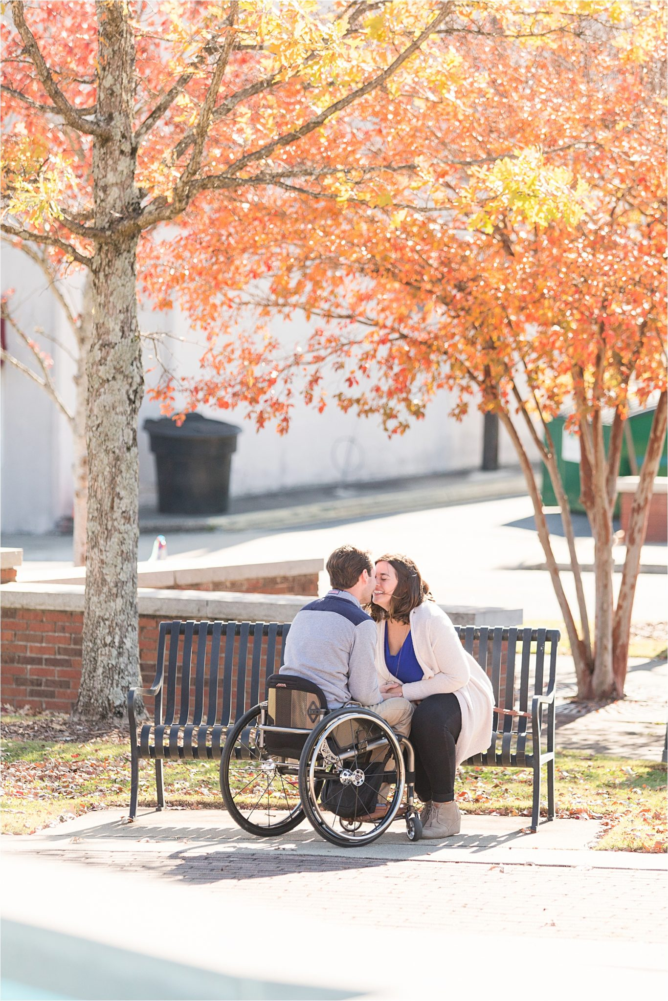 Auburn Alabama Engagement Photographer-Richard's Proposal to Debby-Fall proposal-Fall engagement-Autumn engagement
