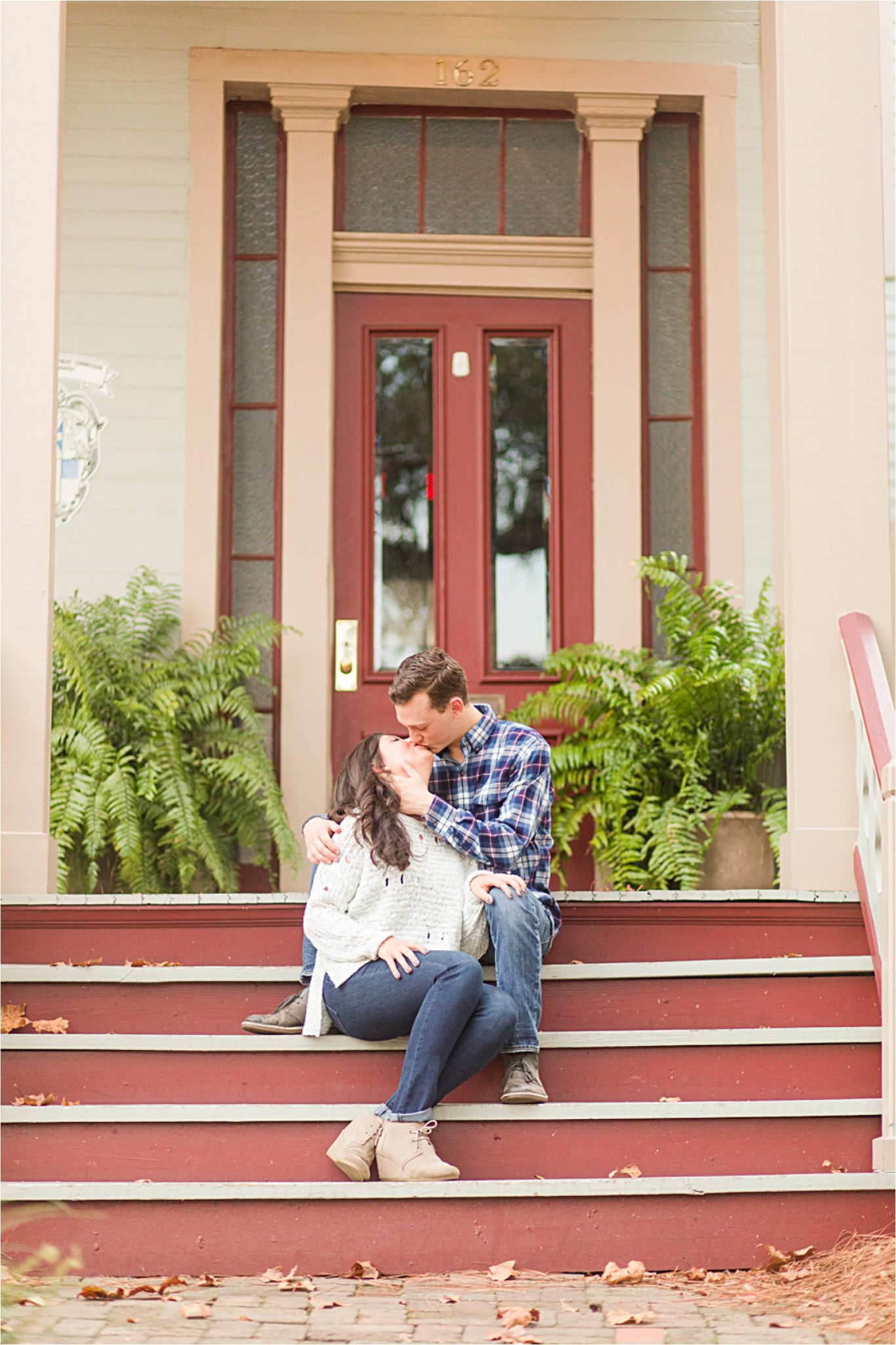 Mobile Alabama Photographer-Engagement Session-Josi + J.R.-Fall Engagement Session-Couple shoot-Forte Conde-Forte Conde Photoshoot