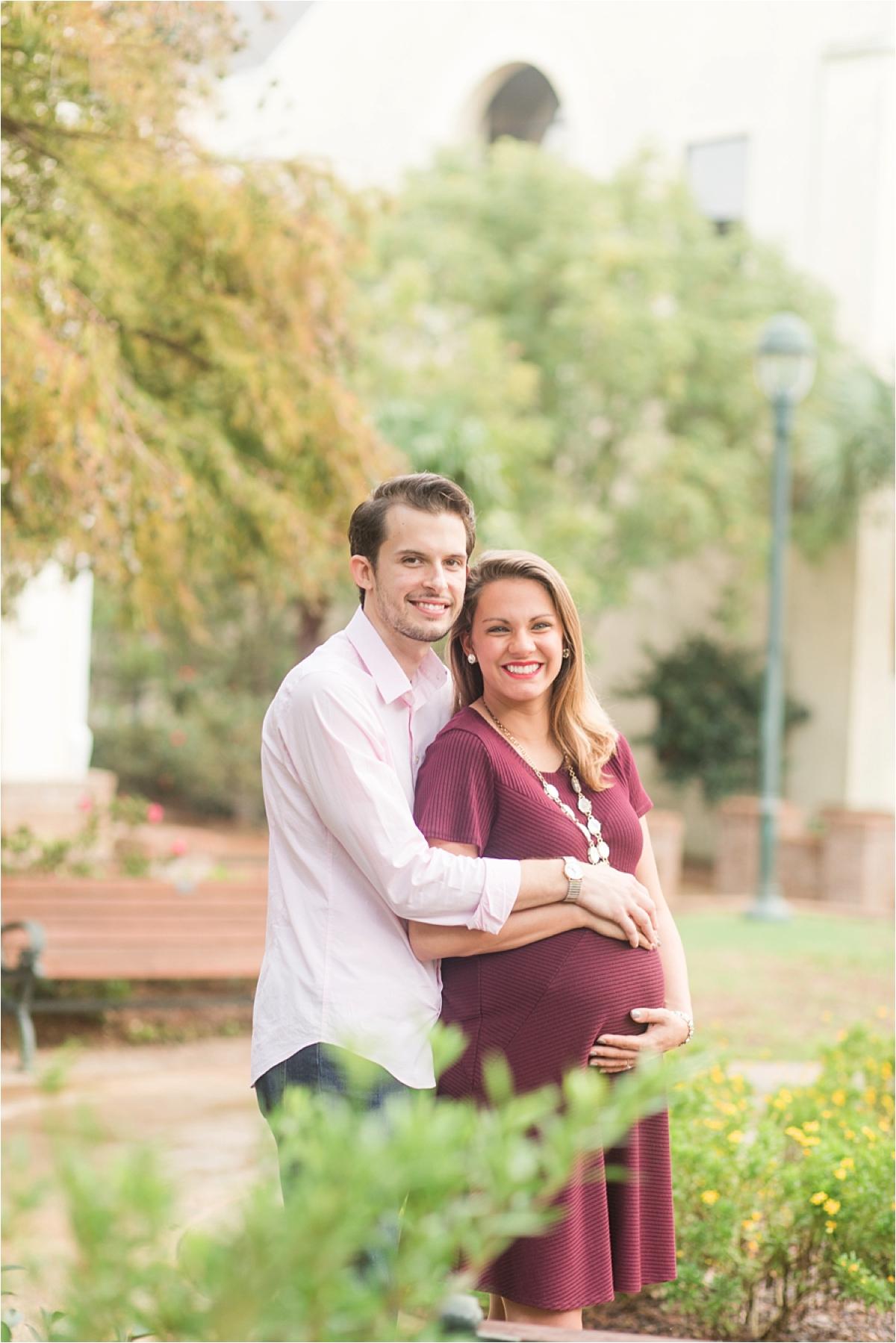 Mobile Alabama Maternity Session-Magan + Kyle-Maternity Photoshoot-Fall couple shoot-Autumn couple shoot-Alabama photographer