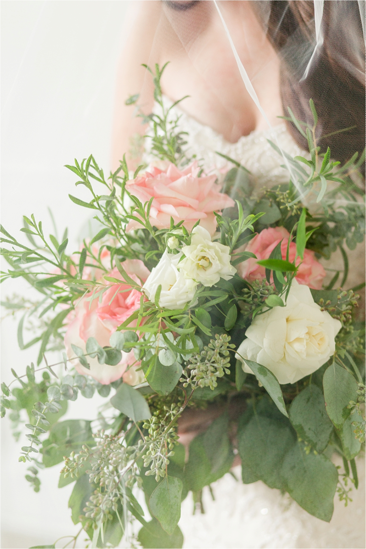 wedding-florals-bridal bouquet-blushes-roses-whimsical-Portraits-the Pillars-Mobile, Alabama-Dragonfly-Photography