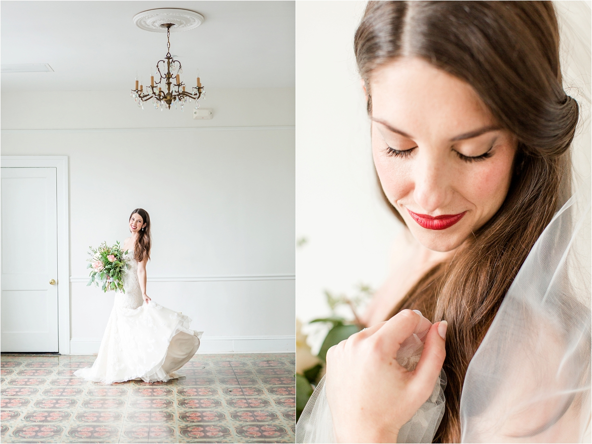 Bridal Portraits at the Pillars in Mobile, Alabama | Dragonfly Photography