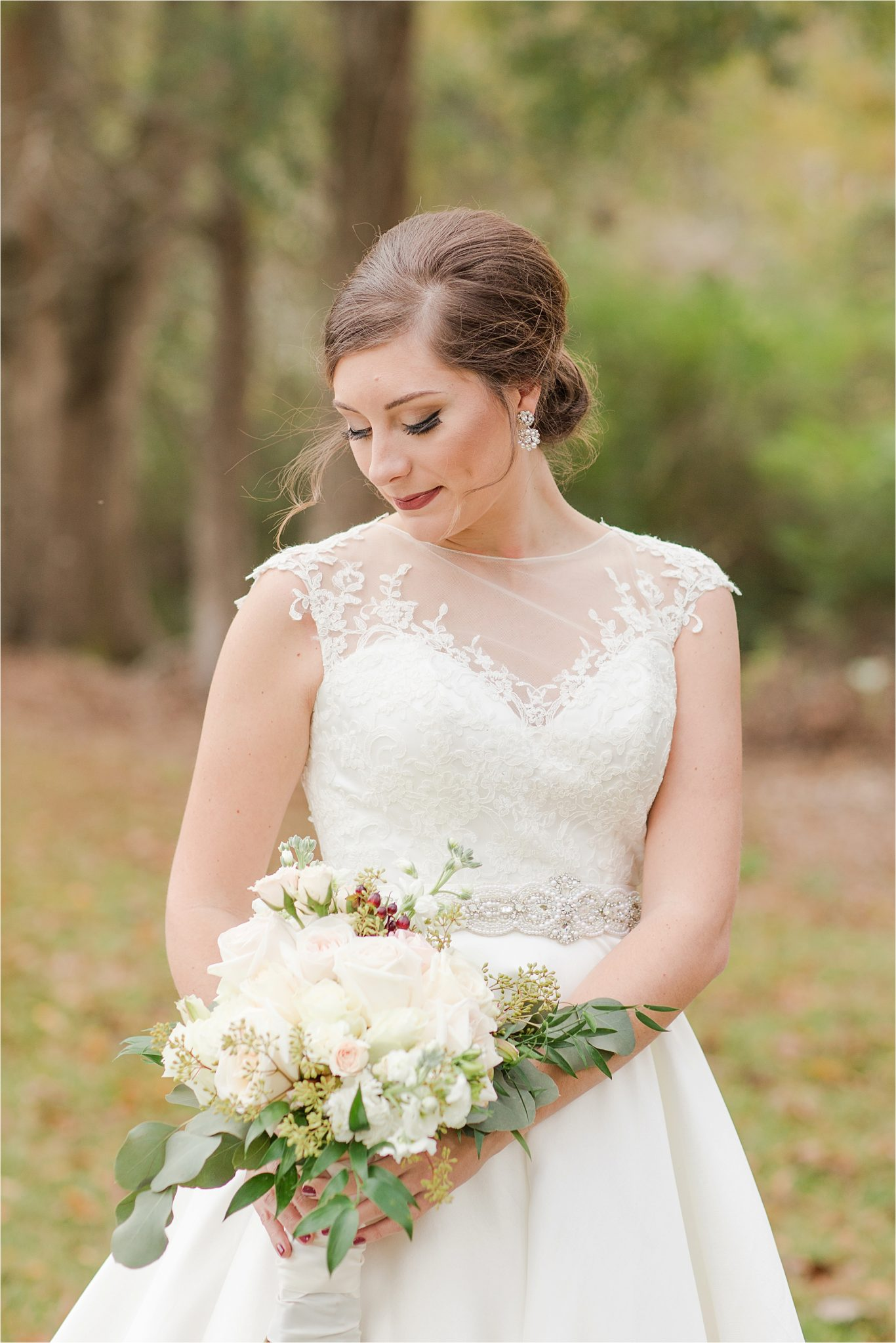 The Barn at Bridlewood Wedding-Hattiesburg, Mississippi-Kelsey + Blake-Wedding details-Barn wedding-Ruby wedding-Autumn themed wedding-Wedding dress-Wedding florals-Bridal shoot