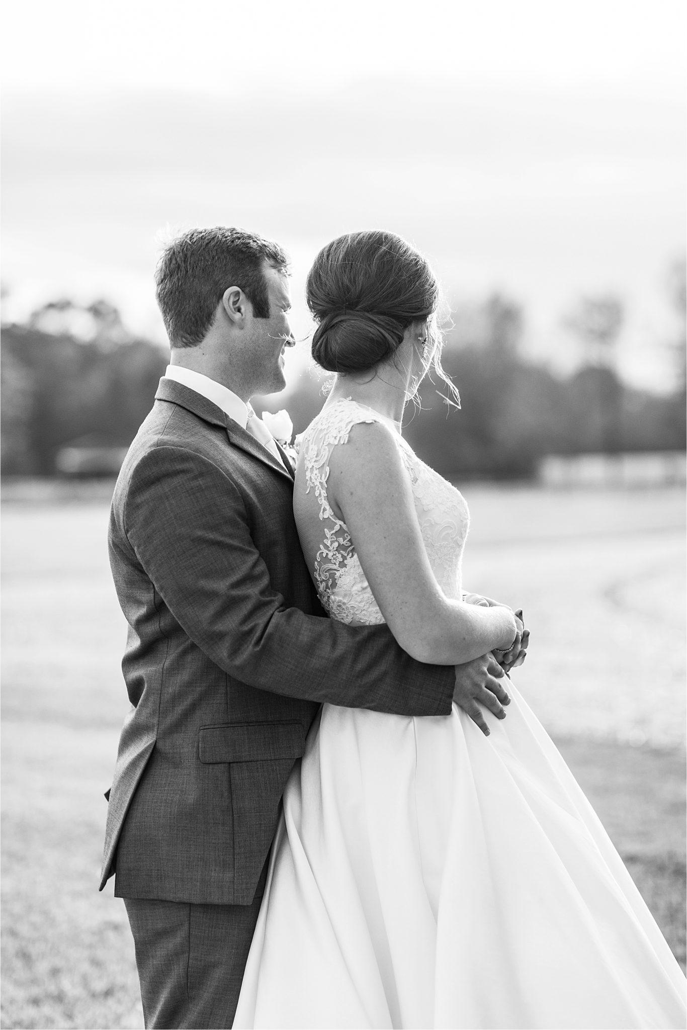 The Barn at Bridlewood Wedding-Hattiesburg, Mississippi-Kelsey + Blake-Wedding details-Barn wedding-Ruby wedding-Autumn themed wedding-Bride and groom