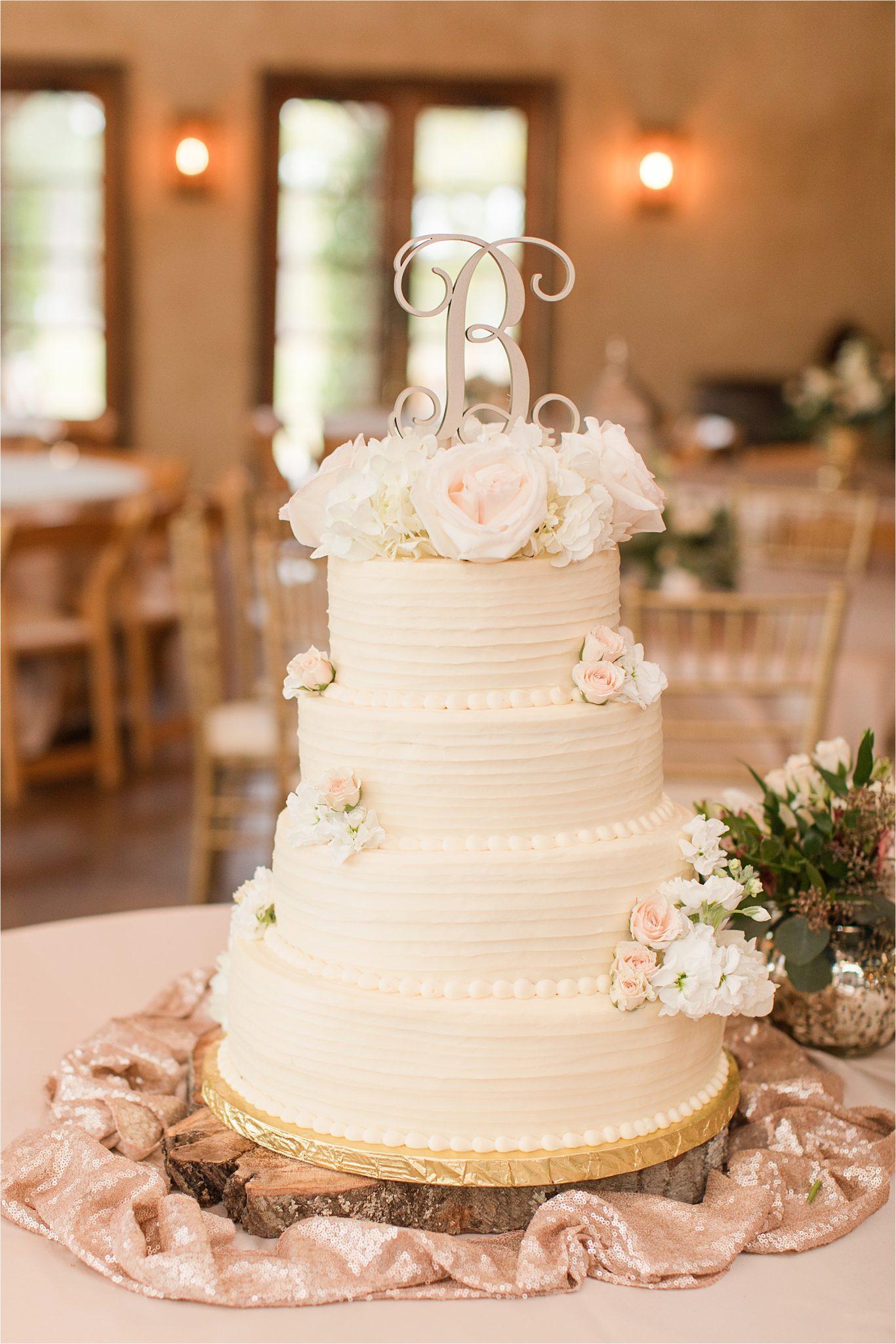 The Barn at Bridlewood Wedding-Hattiesburg, Mississippi-Kelsey + Blake-Wedding details-Barn wedding-Ruby wedding-Autumn themed wedding-Wedding detail-Wedding reception-Wedding centerpieces-Wedding cake-Wedding desserts