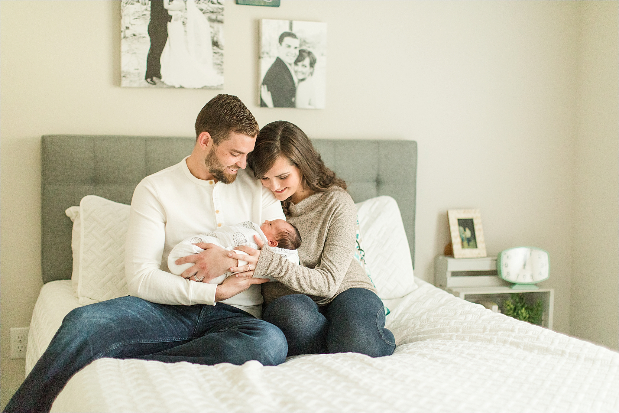 at home newborn lifestyle session