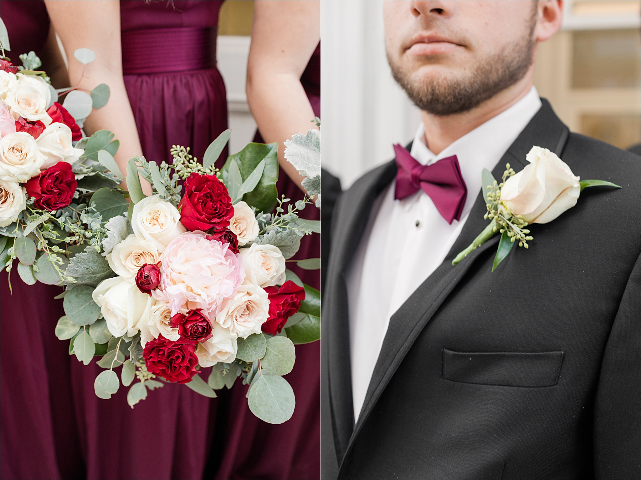 Cranberry and Blush Winter Wedding | Kevin + Samantha
