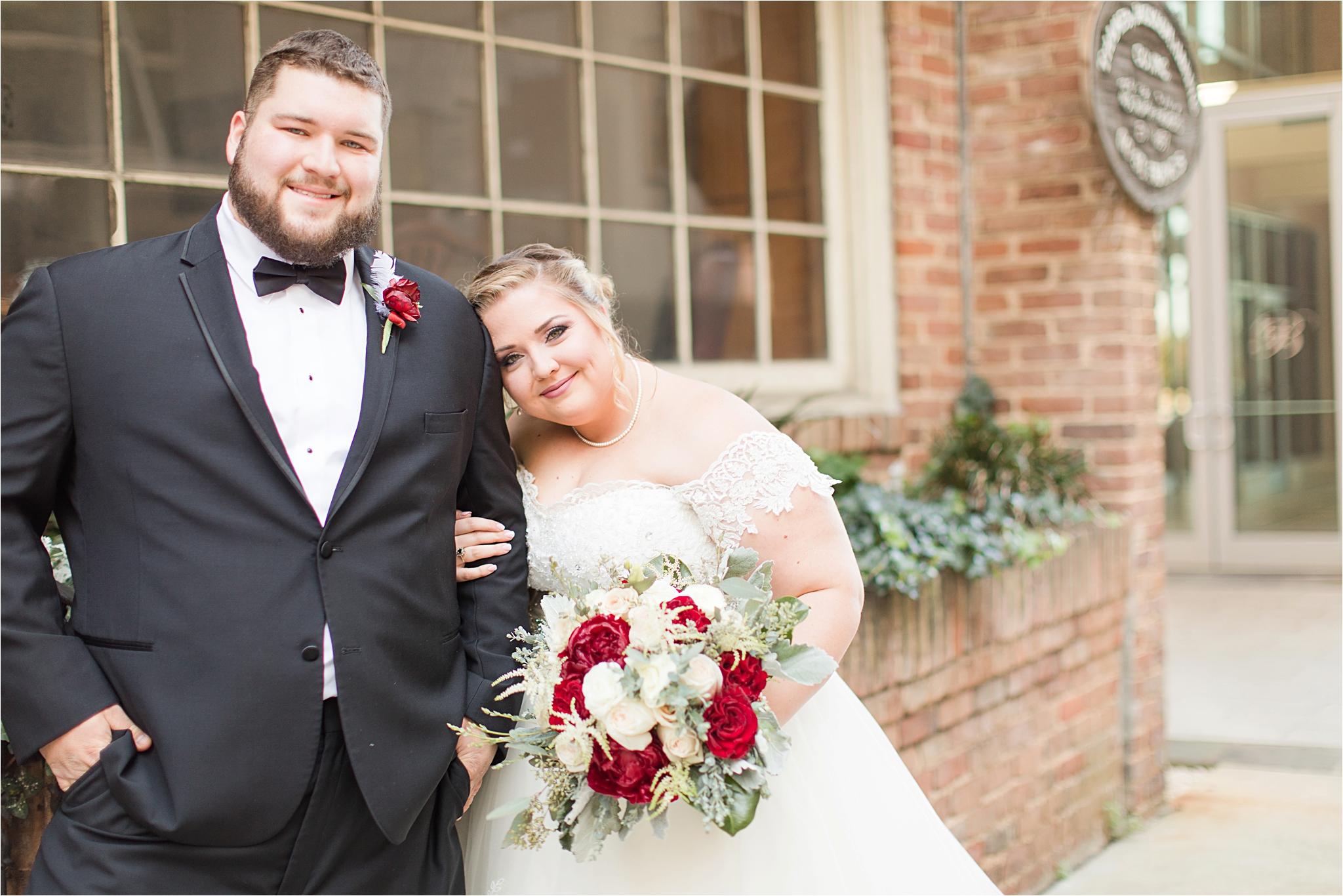 Cranberry and Blush Winter Wedding   Kevin + Samantha
