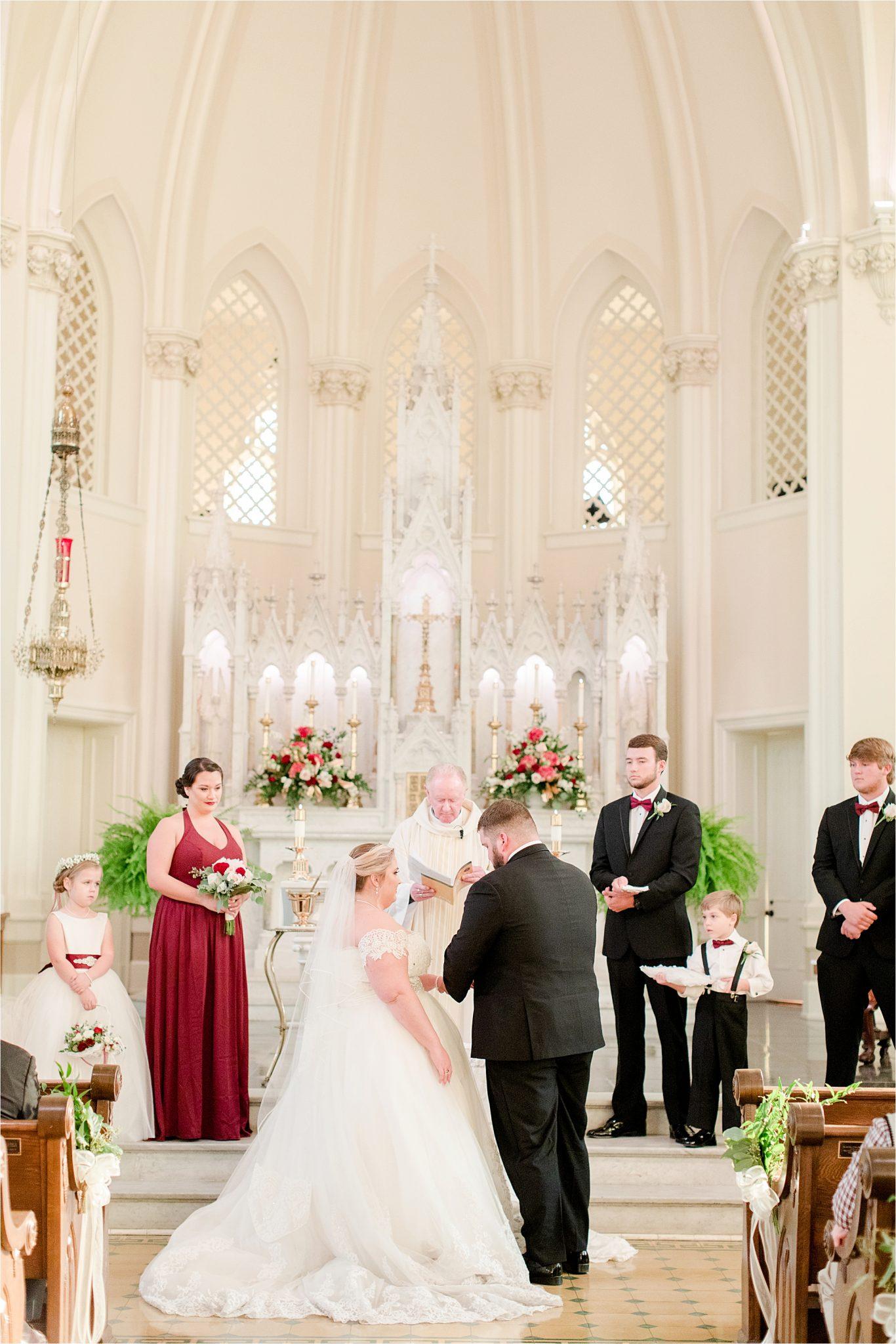 catholic-wedding-ceremony-mobile-alabama-saint josephs roman catholic church at spring hill