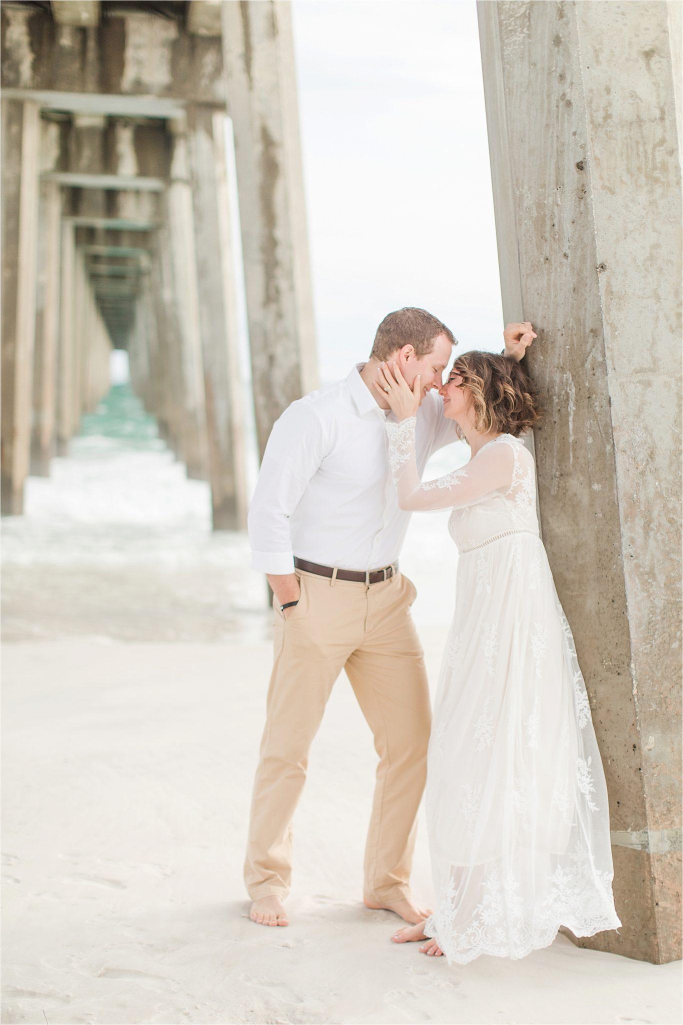 Romantic Pensacola Beach Photos at Sunset-Neil + Steph-Engagement Shoot Inspiration-Beach engagement shoot