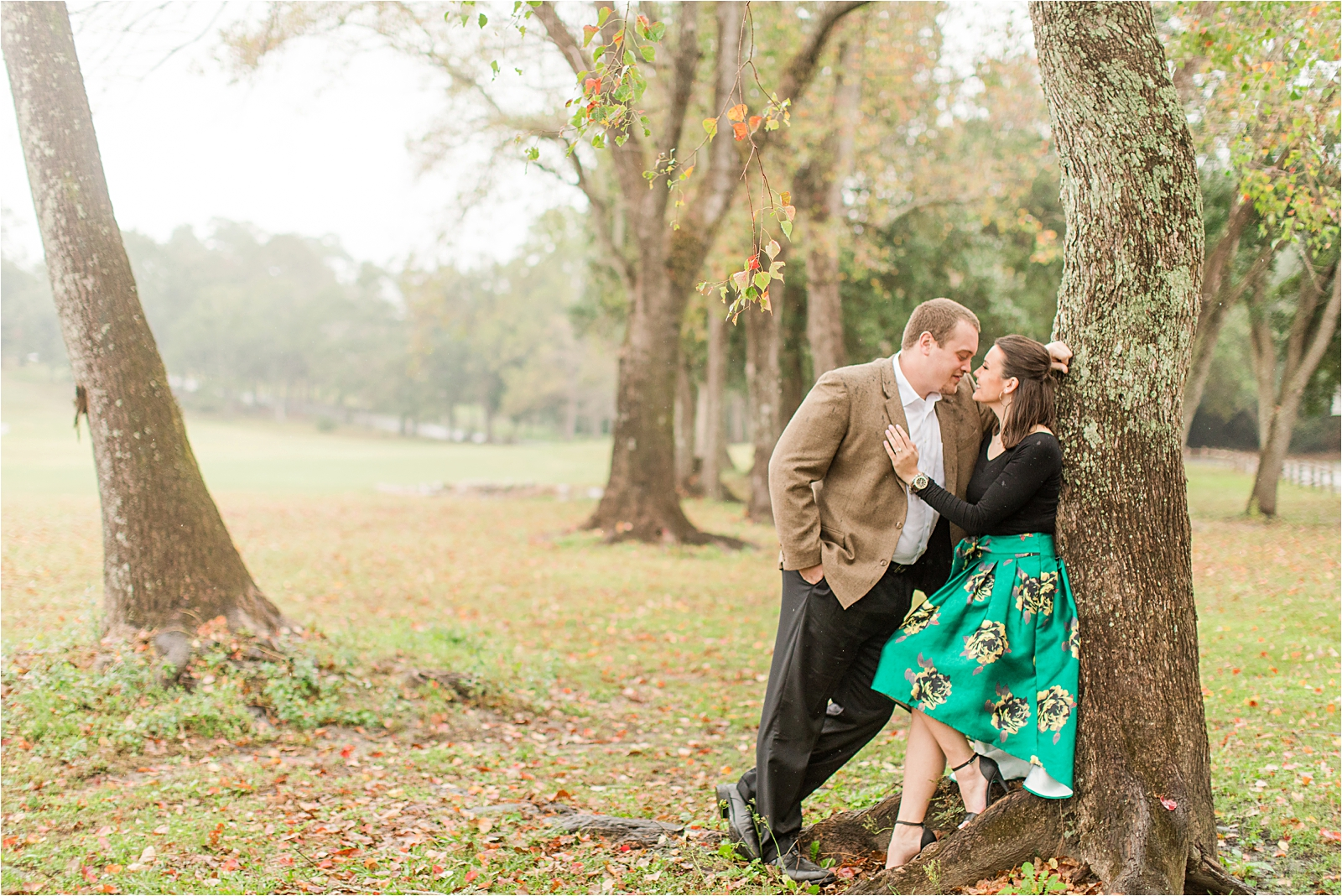 Autumn Engagement Session in the Rain = Courtney + Ben-172