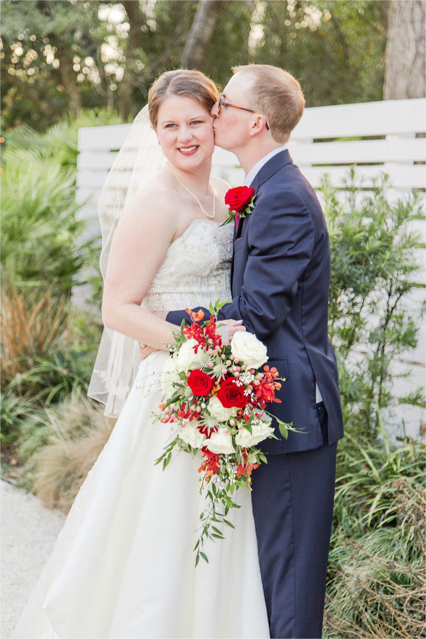 Alabama Wedding Photographer-Little Point Clear Winter Wedding-Meri Beth + Andrew-Bride and Groom-Wedding florals-Wedding bouquet
