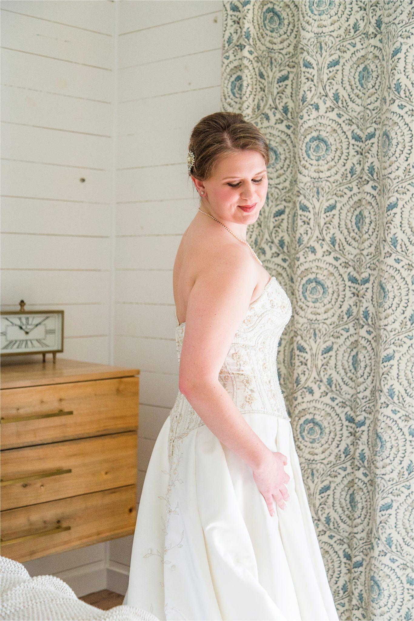 Alabama Wedding Photographer-Little Point Clear Winter Wedding-Meri Beth + Andrew-Wedding Dress