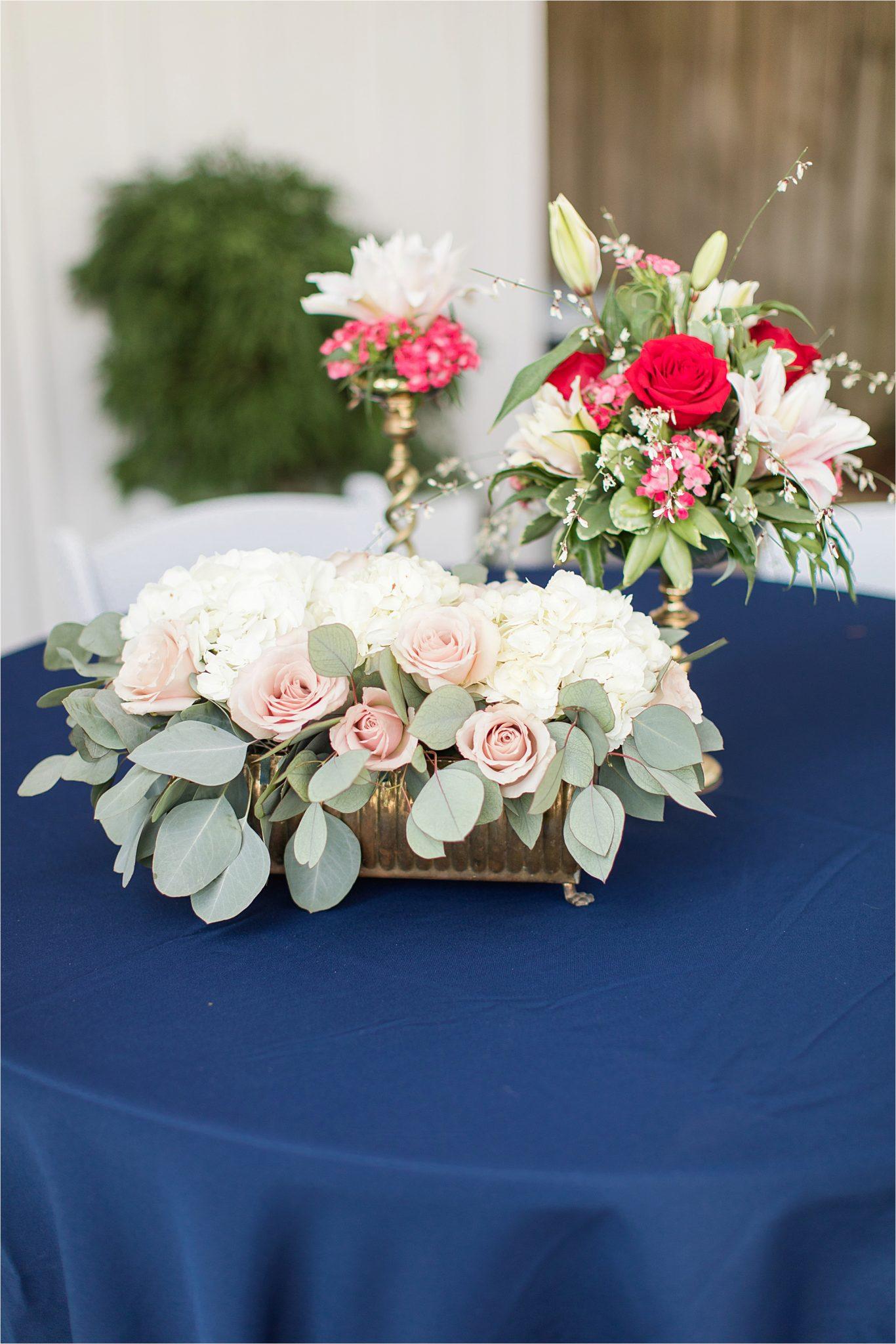 Alabama Wedding Photographer-Little Point Clear Winter Wedding-Meri Beth + Andrew-Wedding florals-Wedding details-Wedding centerpieces