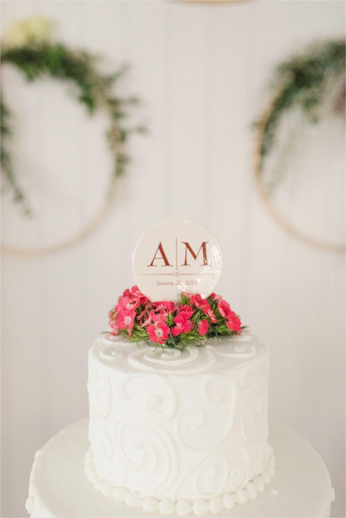 Alabama Wedding Photographer-Little Point Clear Winter Wedding-Meri Beth + Andrew-Wedding cake-Wedding details