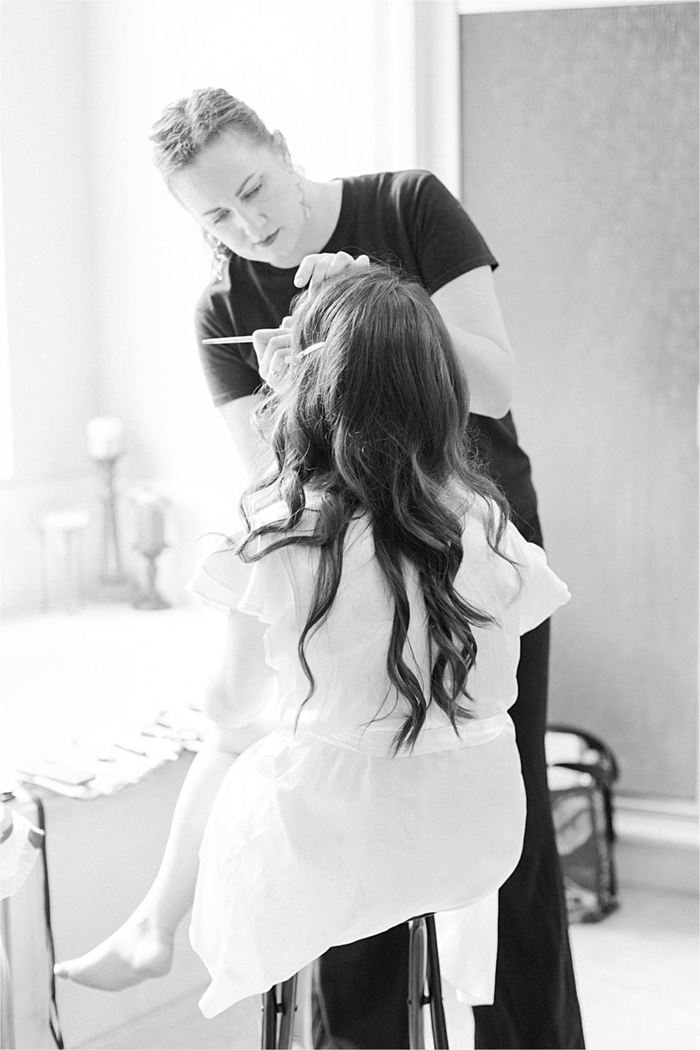Bridal makeup-getting ready-wedding day-bride-makeup artist-wedding photography-Alabama