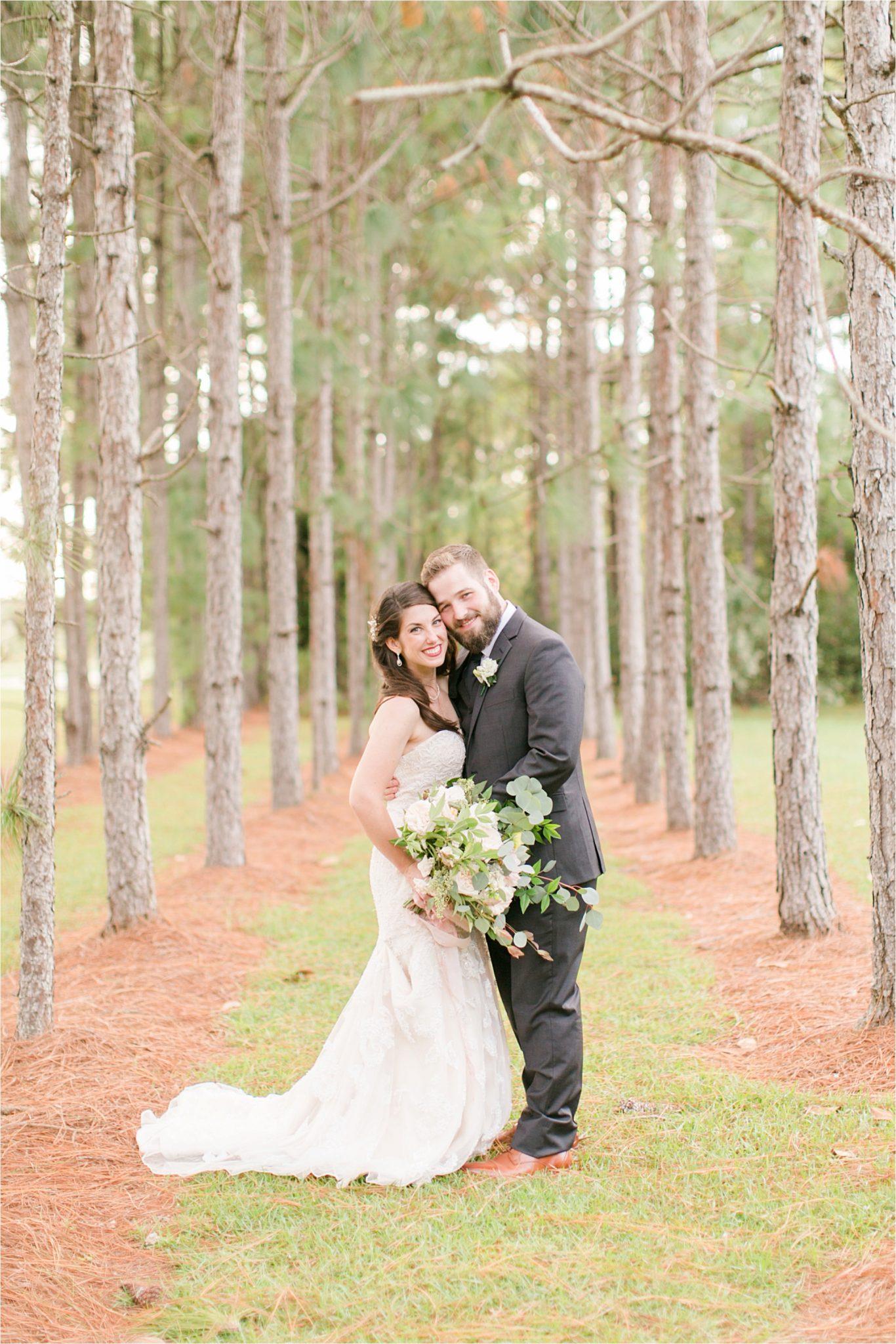 bride and groom photos-wedding day-venue departure-woods