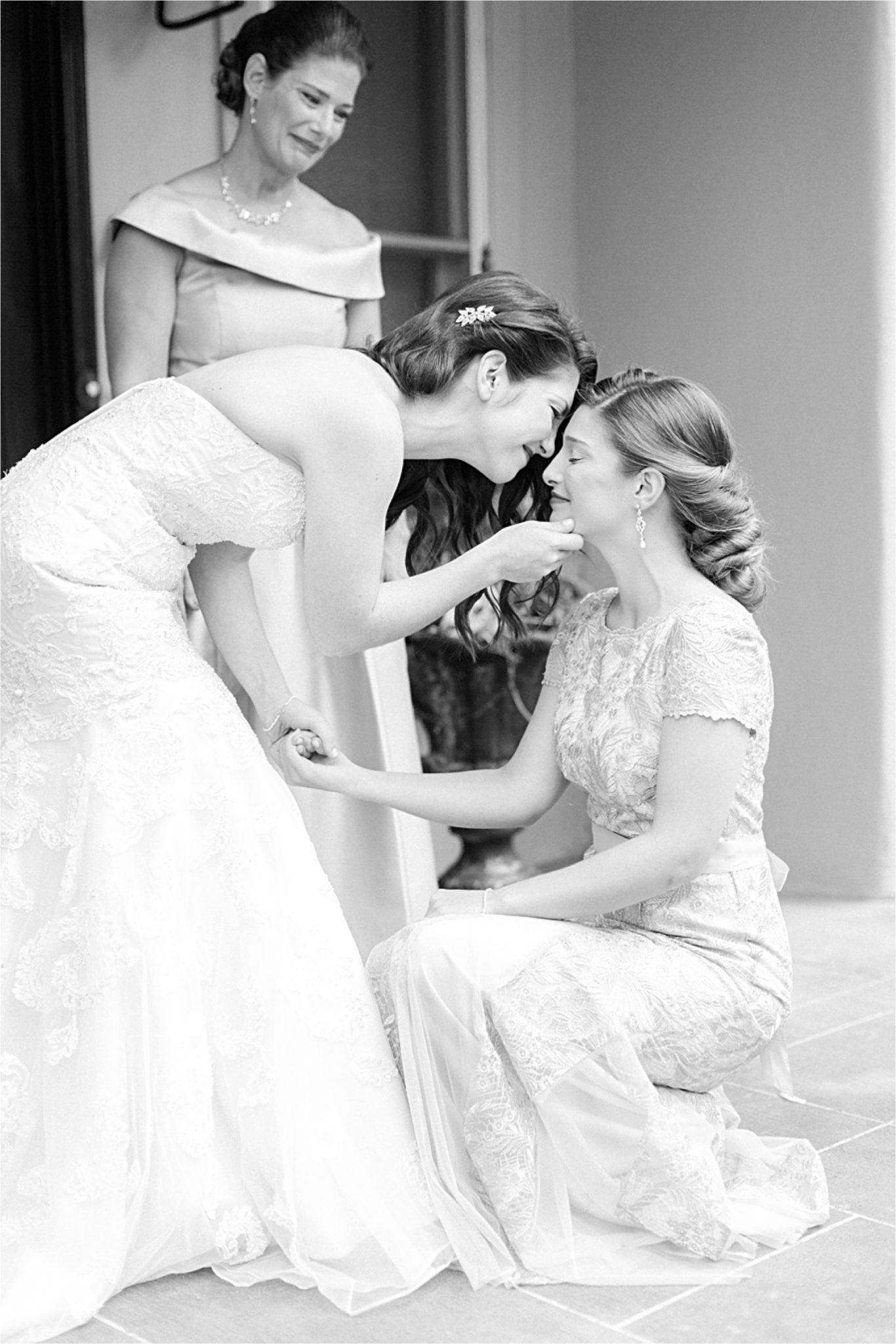 precious moments-wedding day-bride-maid of honor-mother of the bride