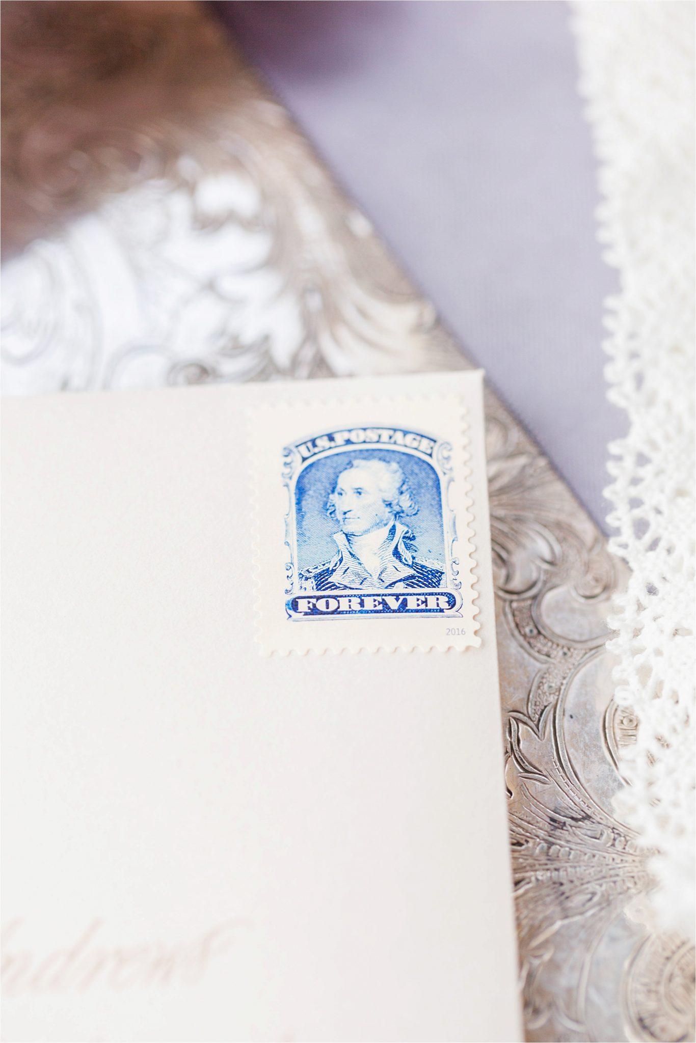 Wedding invitations-wedding stamps-wedding paper-George Washington stamp-US Postage-Patriotic Stamps