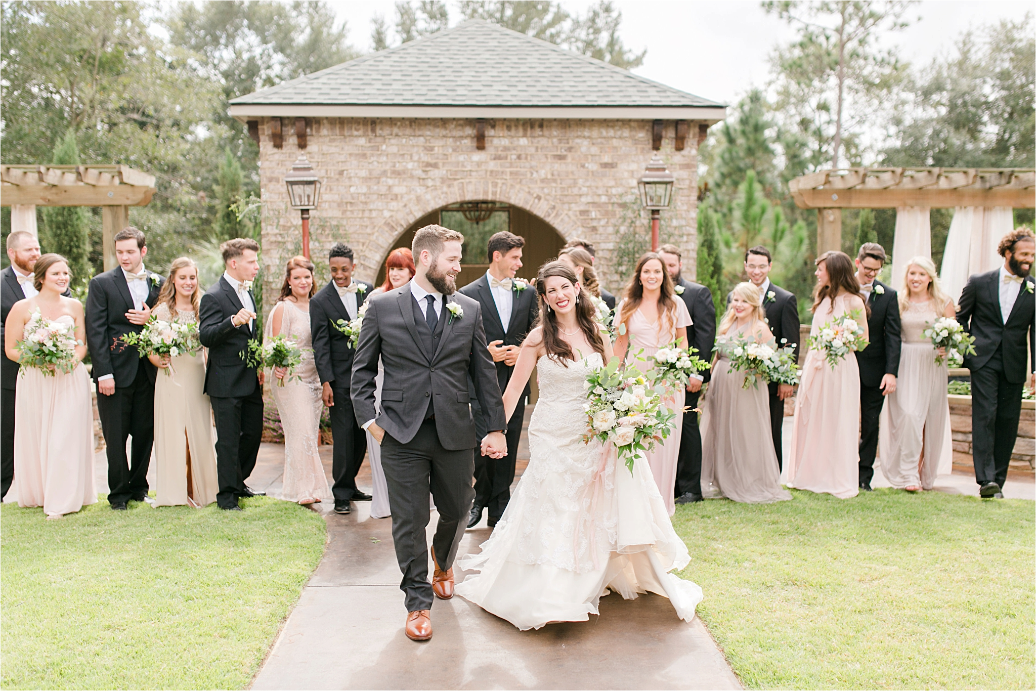 Wedding party-bella sera gardens-alabama-large wedding party-blushes-neutrals-creams