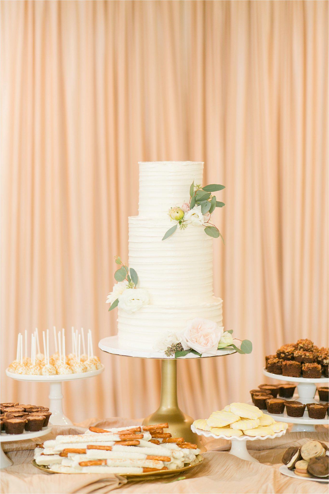wedding cake-EllenJay Dessert Bar-dessert table-wedding-reception-3 tier wedding cakes
