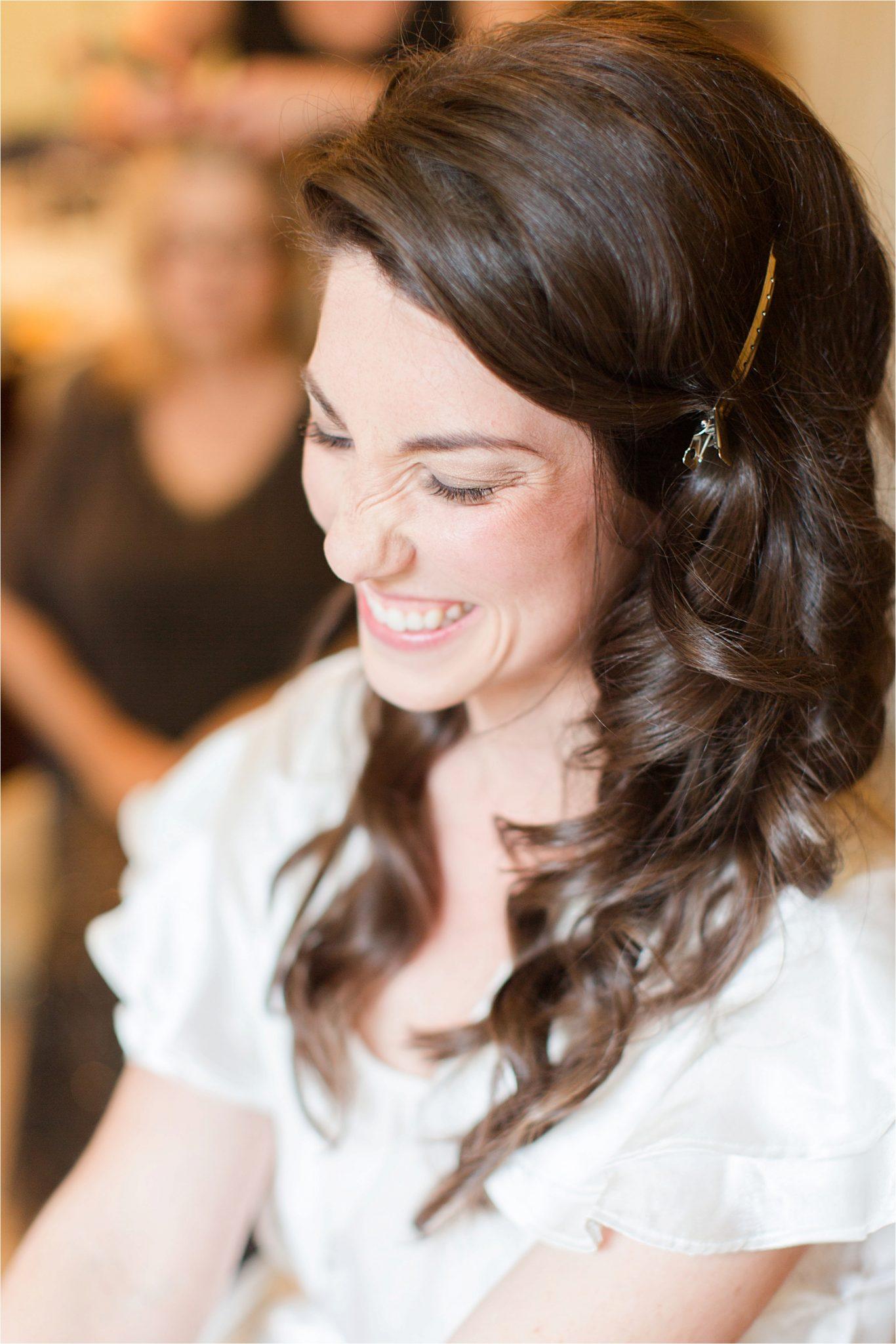 The bride on her wedding day-Alabama Wedding Photographer-curls-bridal hair