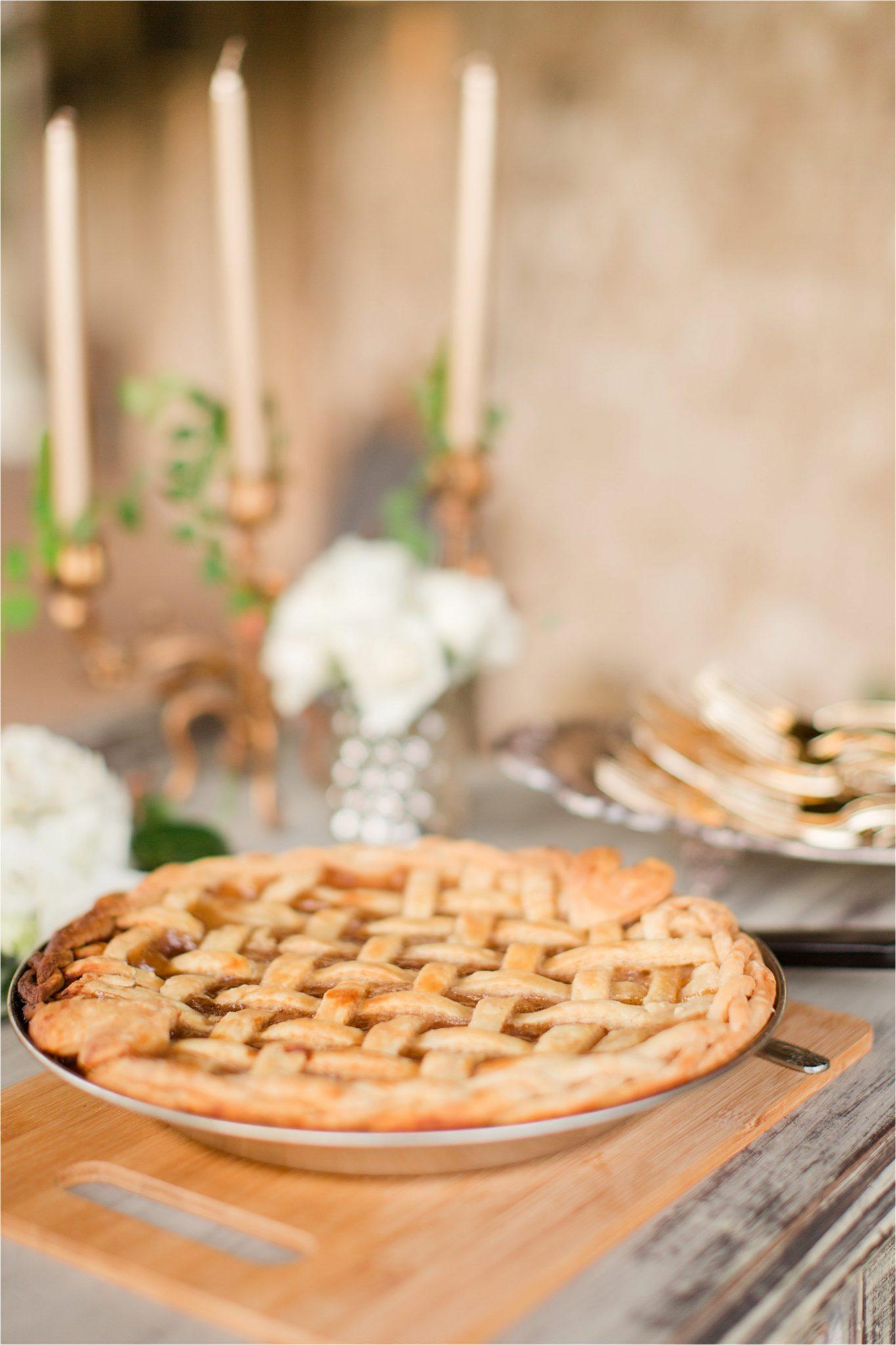 wedding-recpetion-dessert-table-apple-pie-rehearsal-dinner