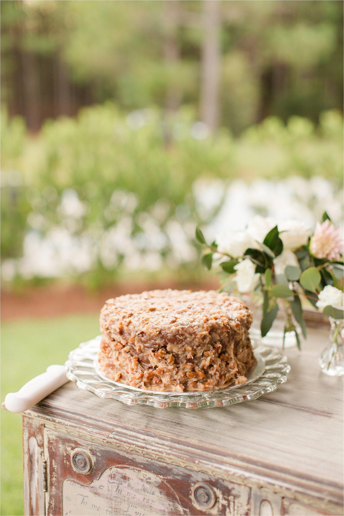 wedding-recpetion-dessert-table-apple-german-chocolate-cake-rehearsal-dinner
