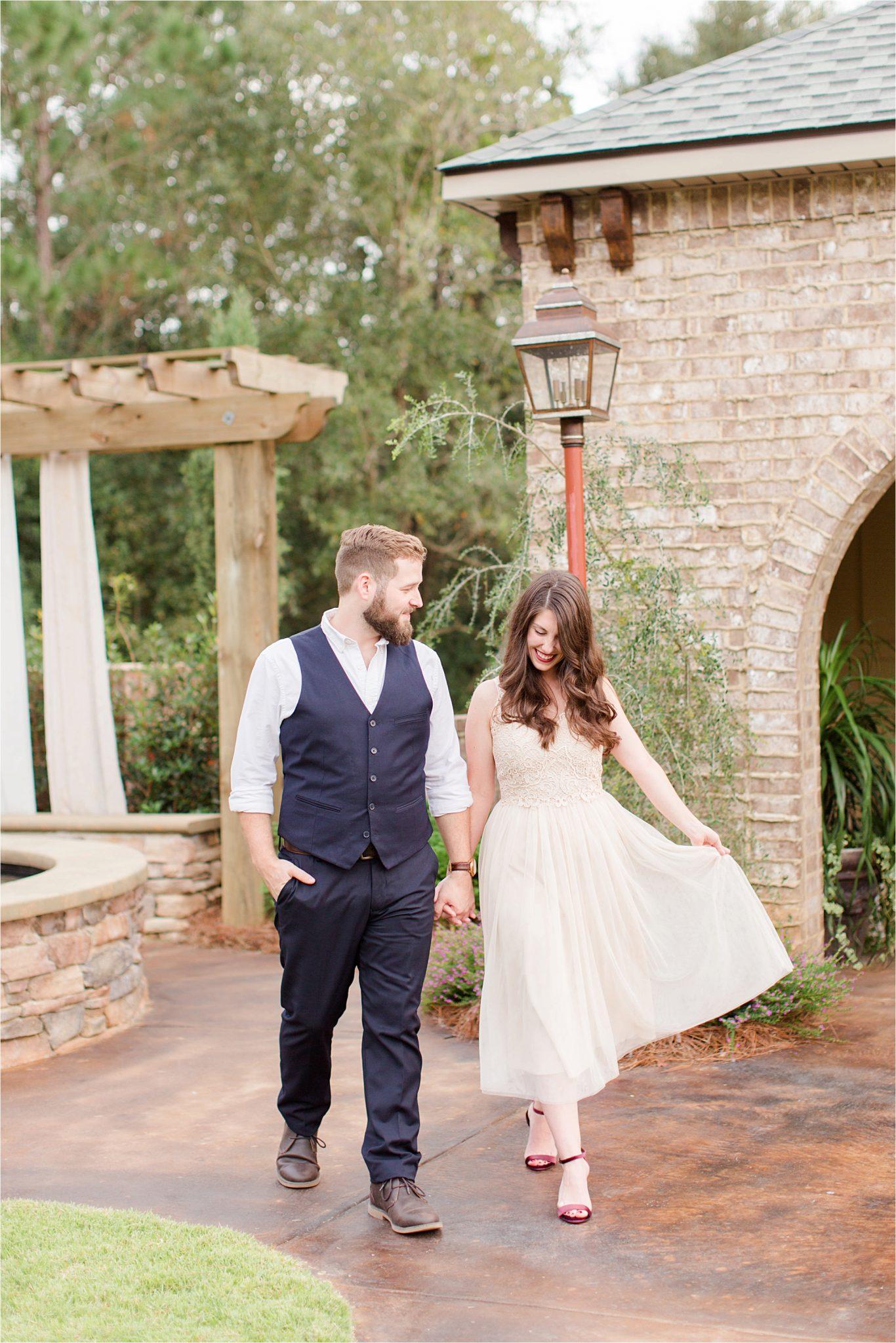 rehearsal-dinner-bride-groom-shoes-velvet-dress-bella-sera-gardens-Alabama-venue