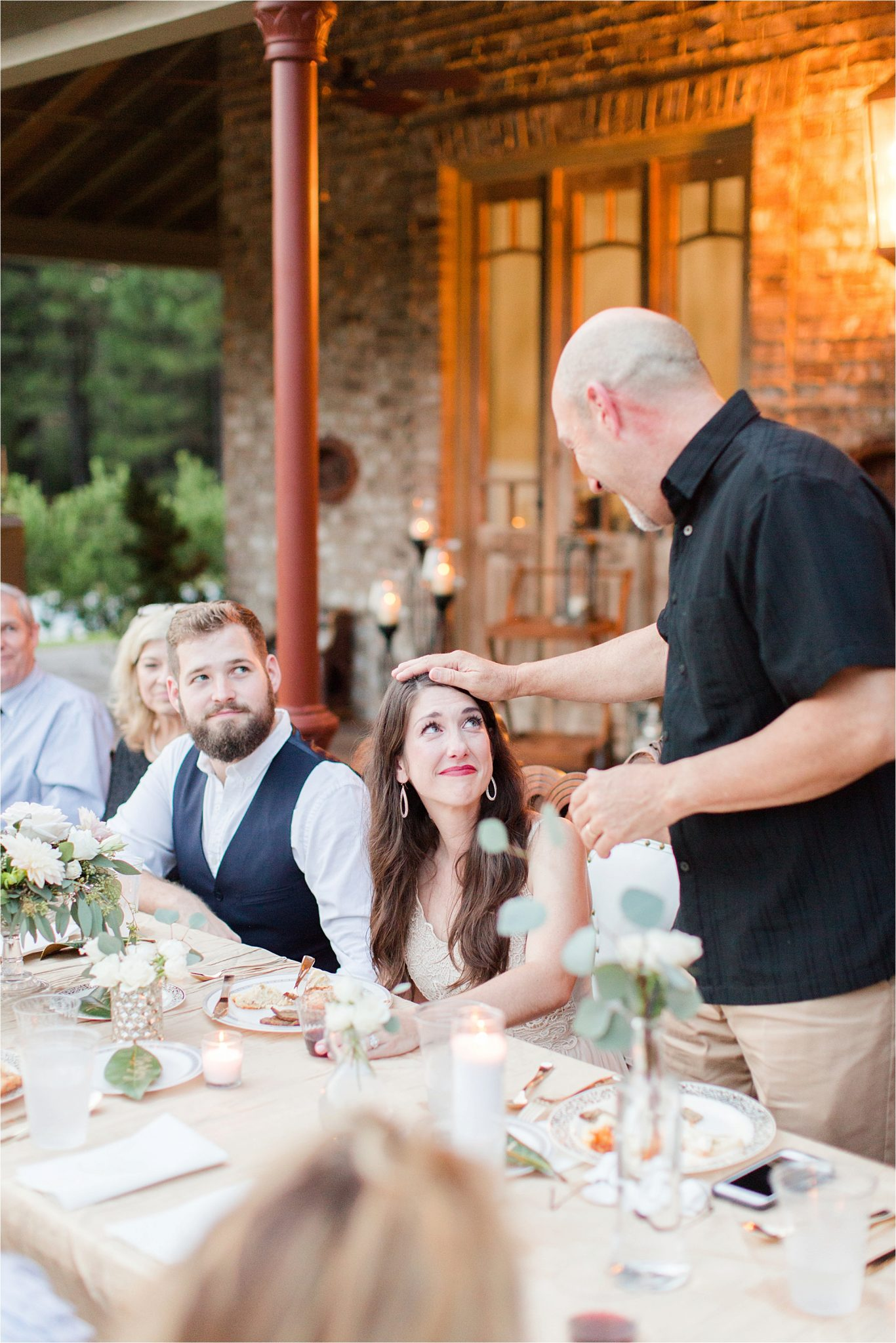 bride-father of the bride-rehearsal-dinner-prayer-blessing-toast