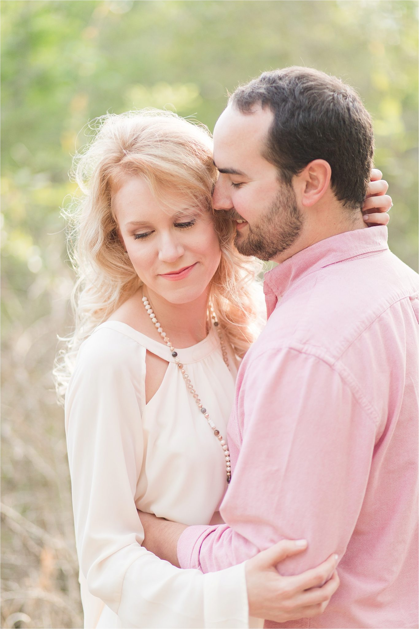 Alabama engagement session locations-Baldwin County-Blakeley State Park-Mobile Alabama wedding photographer-bride and groom-engagement photos-pastels and ivory