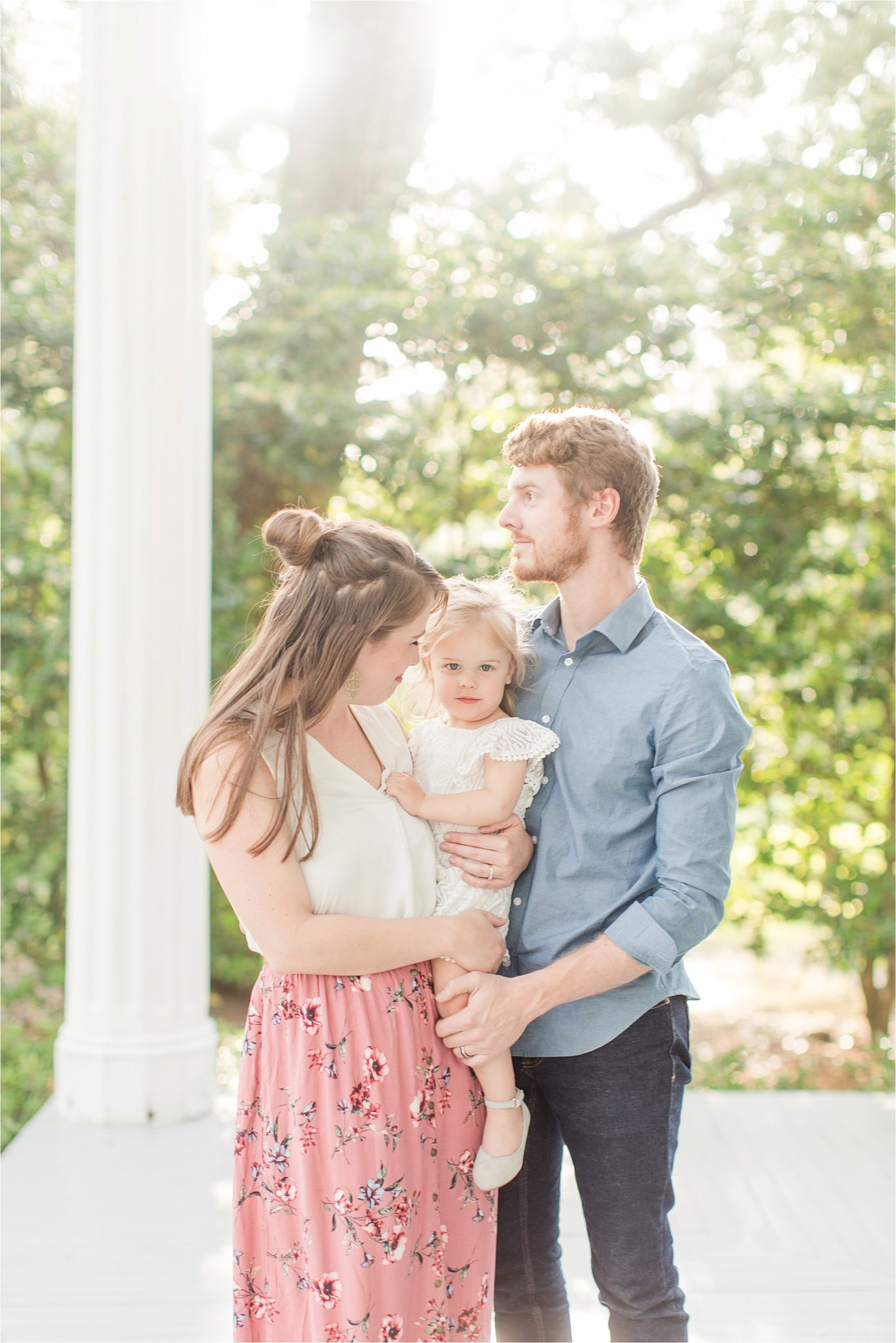 Bragg Mitchell Mansion-Family Photography-family portraits-toddler-family of three-mother father and little girl