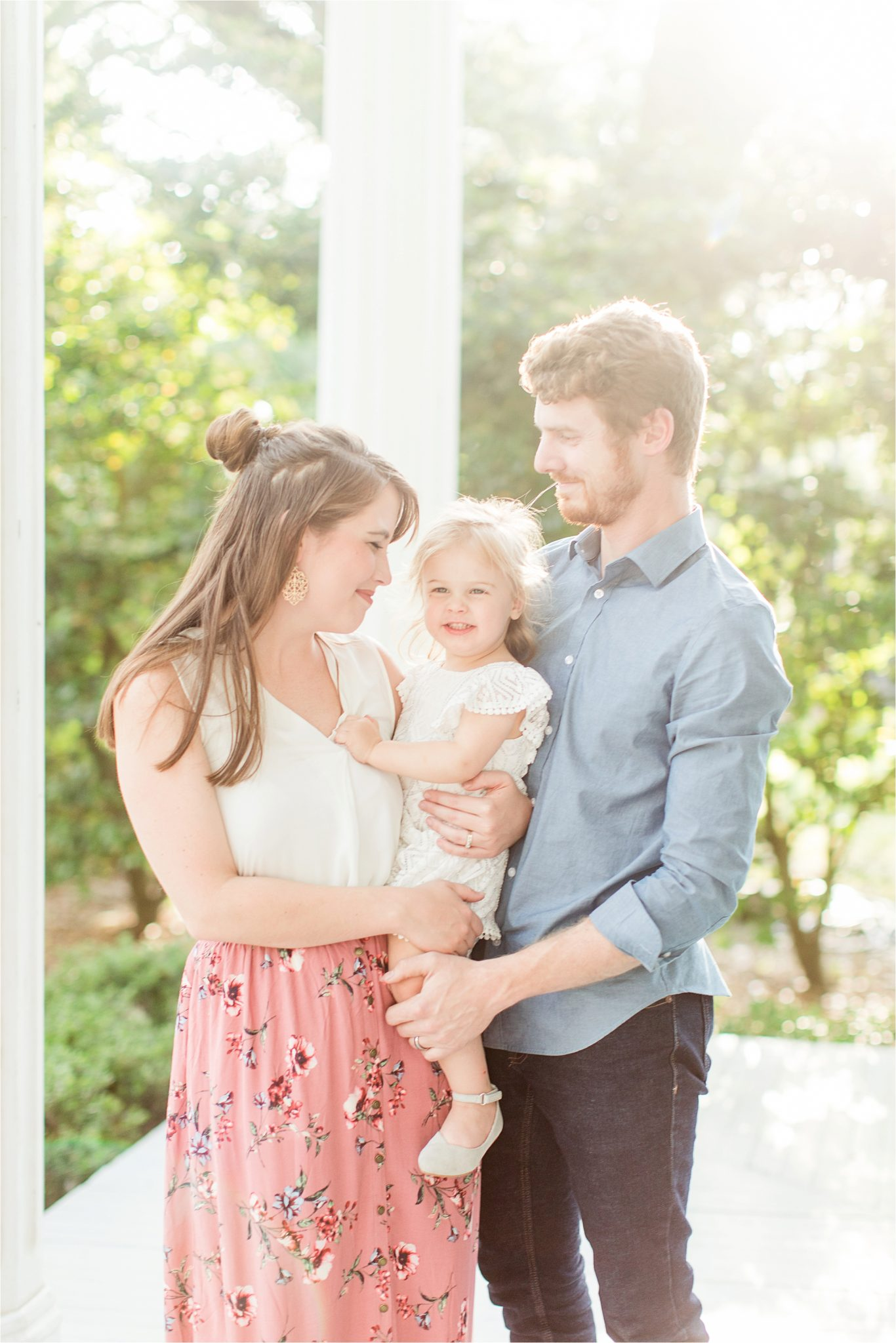 Bragg Mitchell Mansion Family Photography-real family portraiture-toddler-family of three