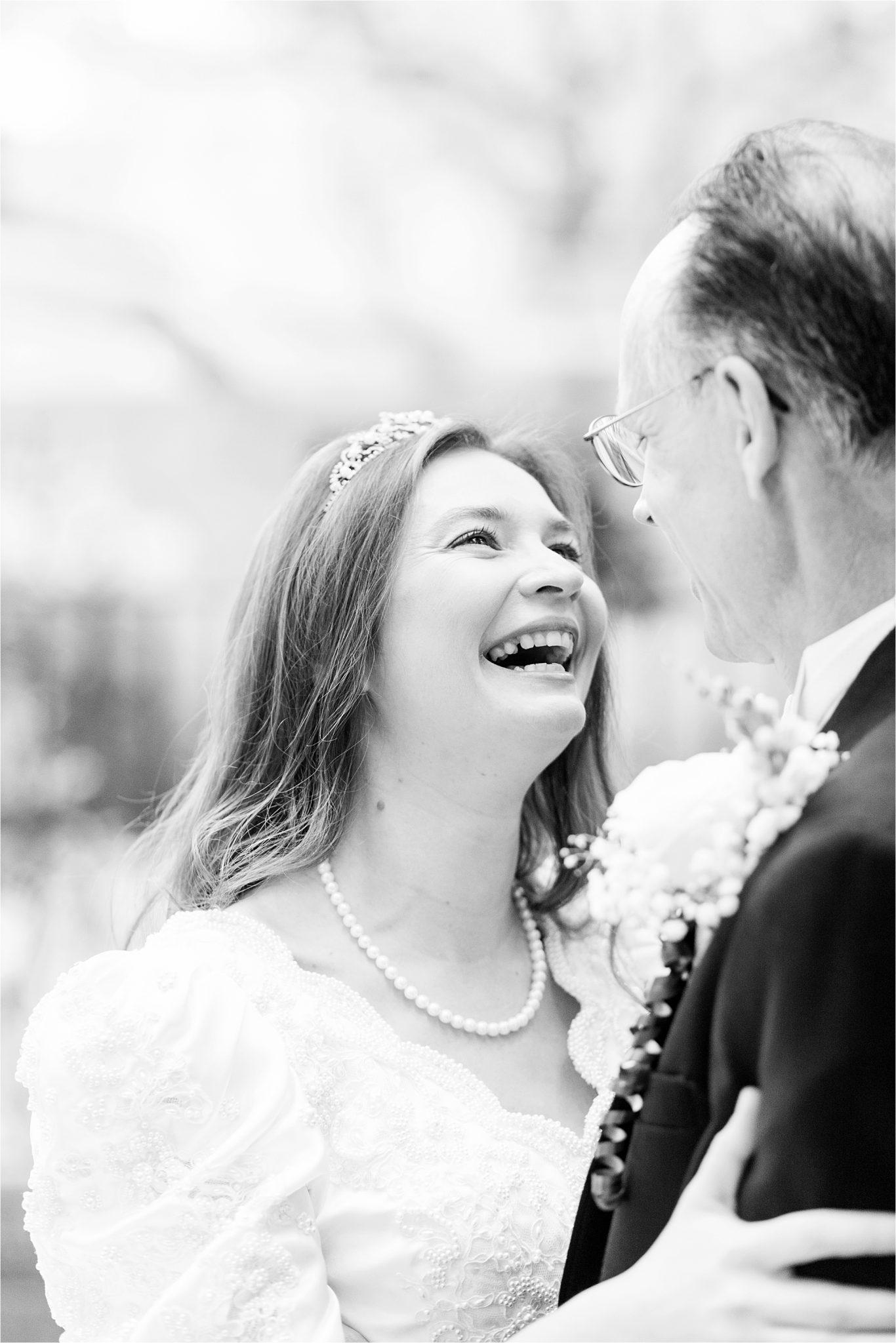 daddy daughter-first look-wedding dress-scalloped neckline