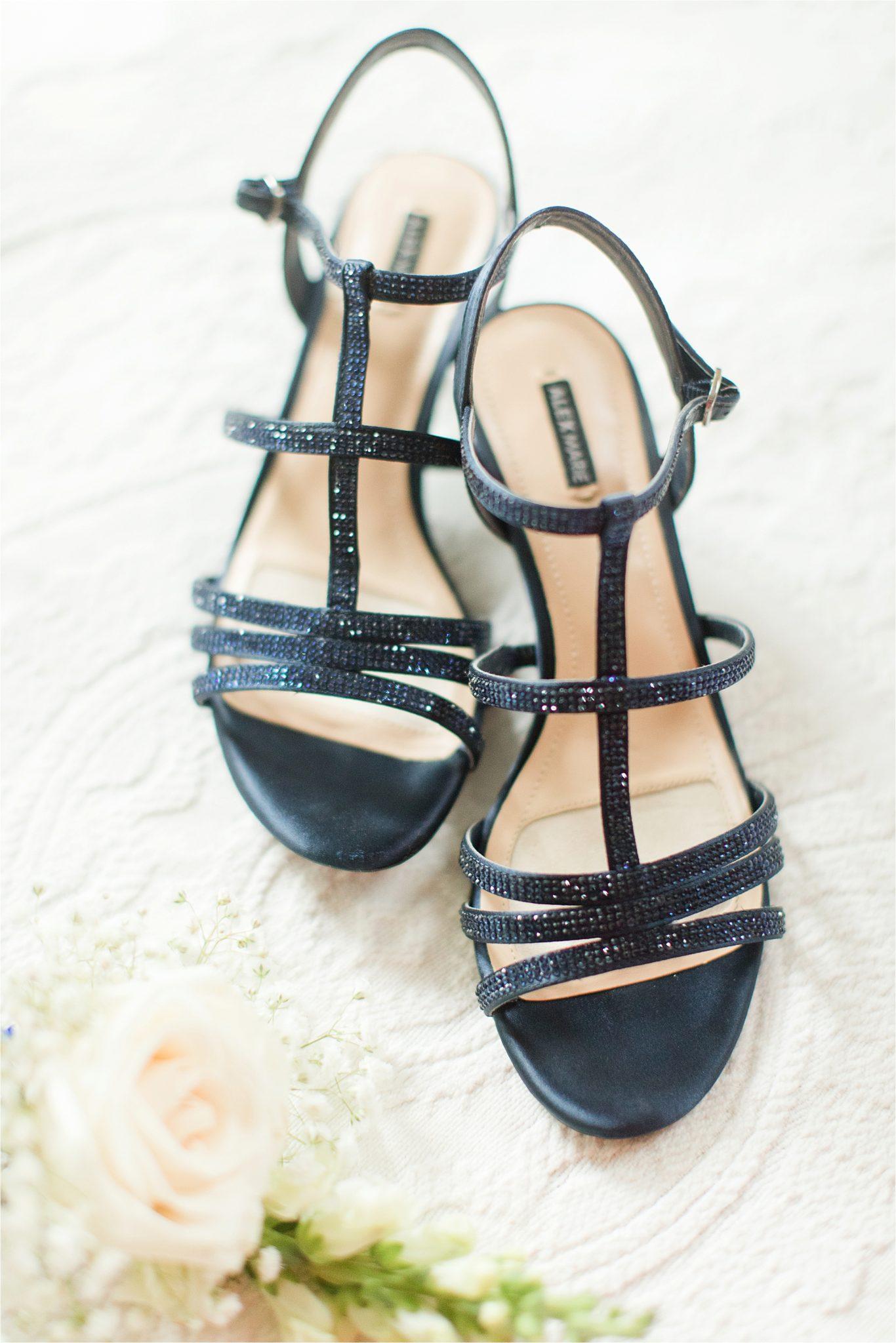 navy wedding shoes-rhinestone wedding shoes-strappy wedding shoes-summer wedding shoes