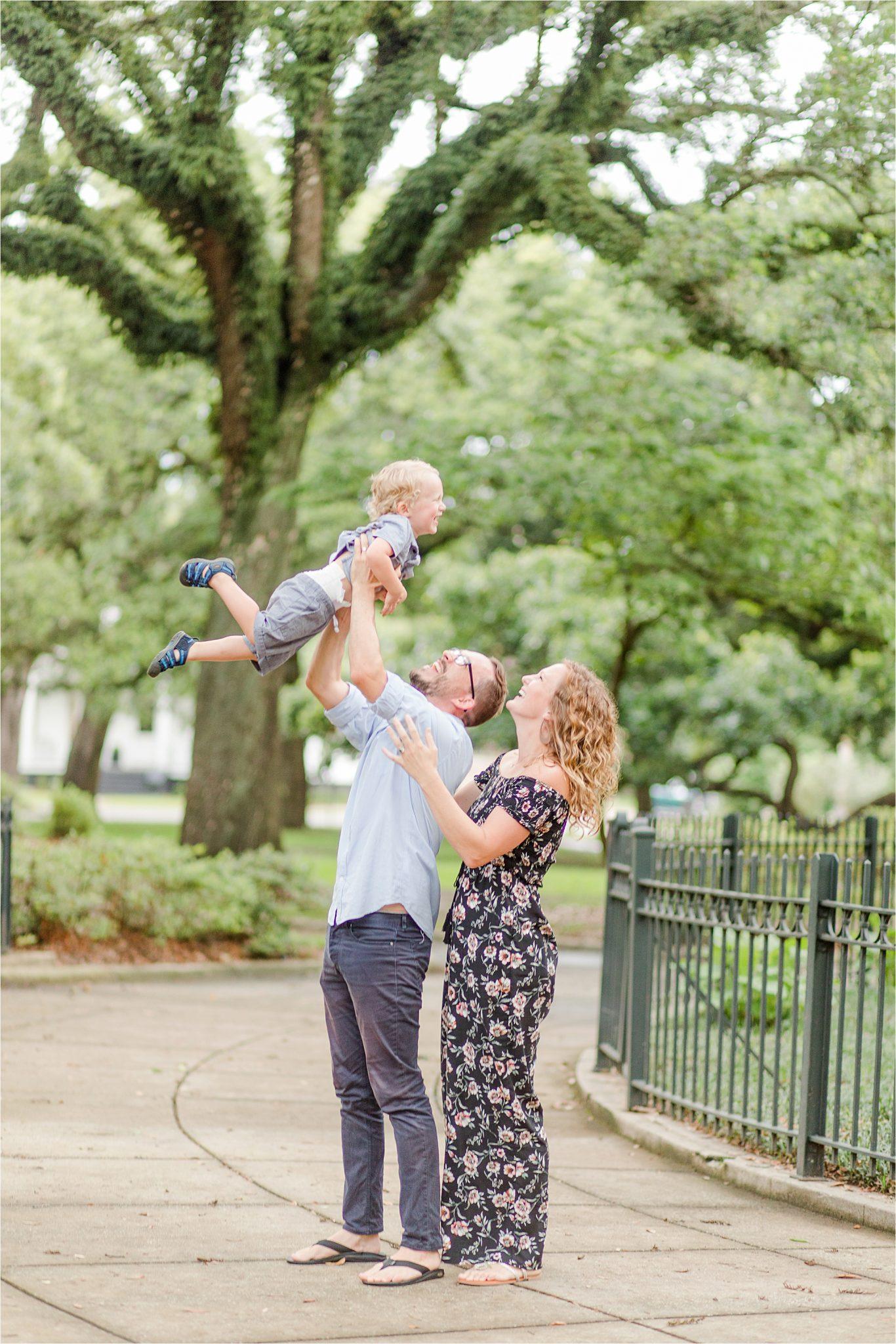 Washington Square Park Family Photography-Alabama family photographer-family of three-best Alabama family portrait locations-family photos